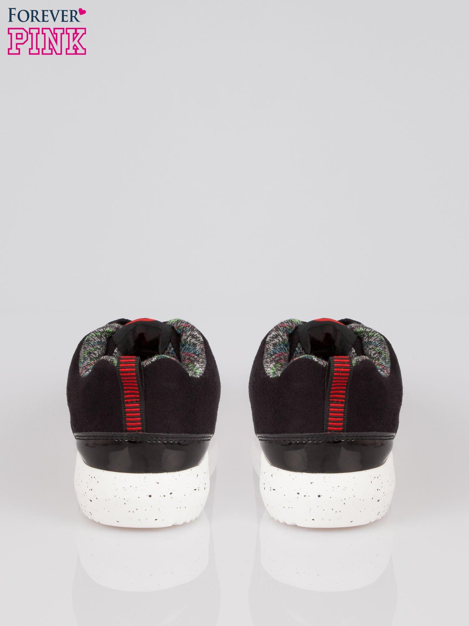 Czarne buty sportowe faux suede Hollywood z zamszu                                  zdj.                                  3