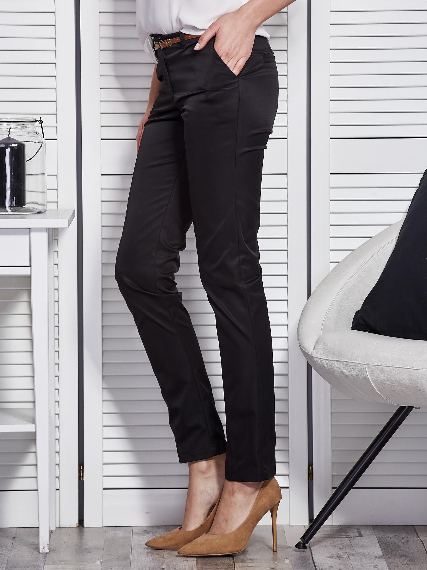bawelniane spodnie eleganckie czarne damske