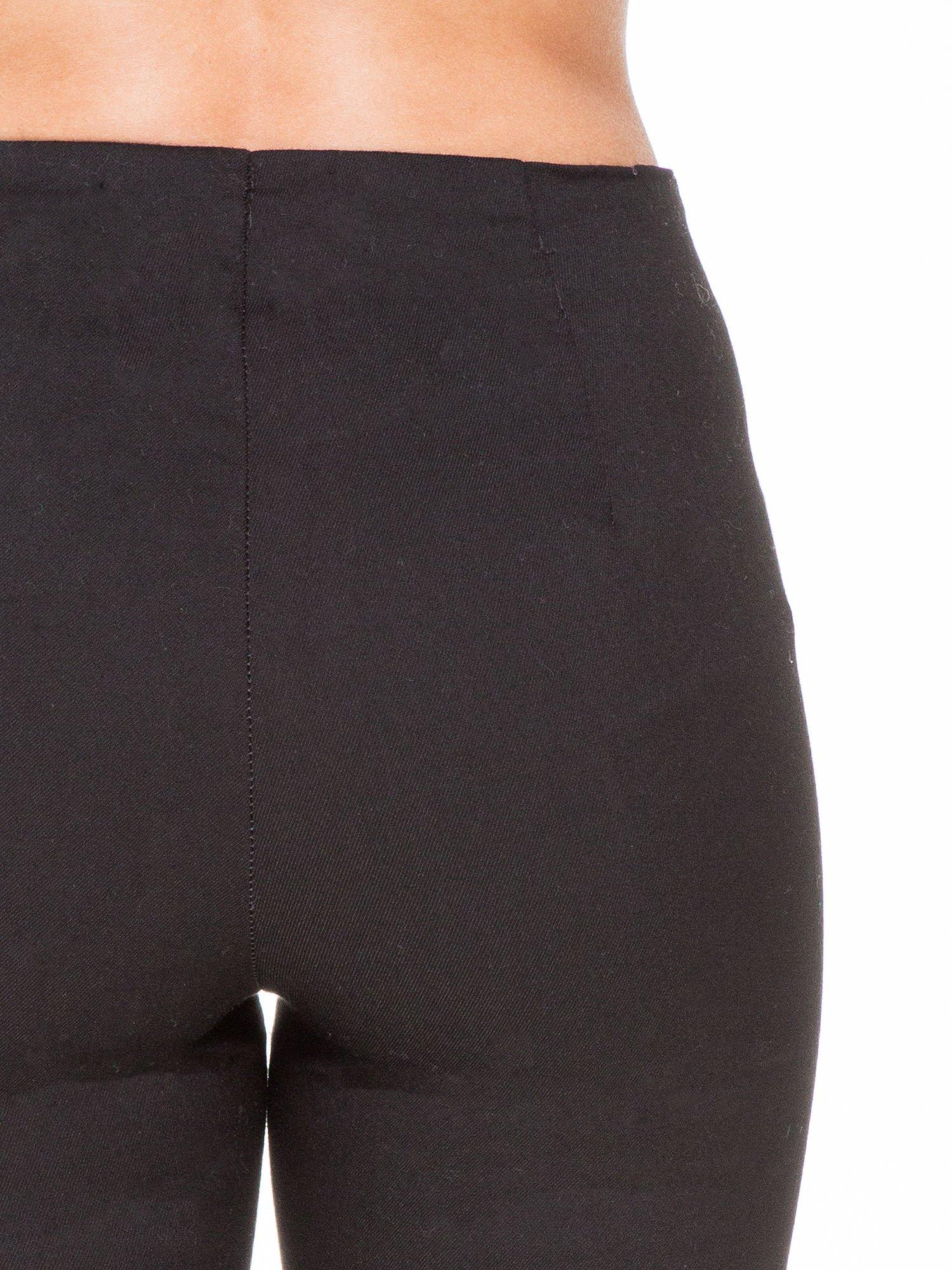 Czarne eleganckie spodnie typu tregginsy z wysoką talią                                  zdj.                                  6
