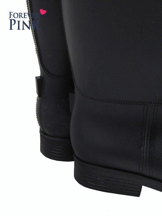 Czarne kalosze damskie z matowej gumy                                  zdj.                                  2