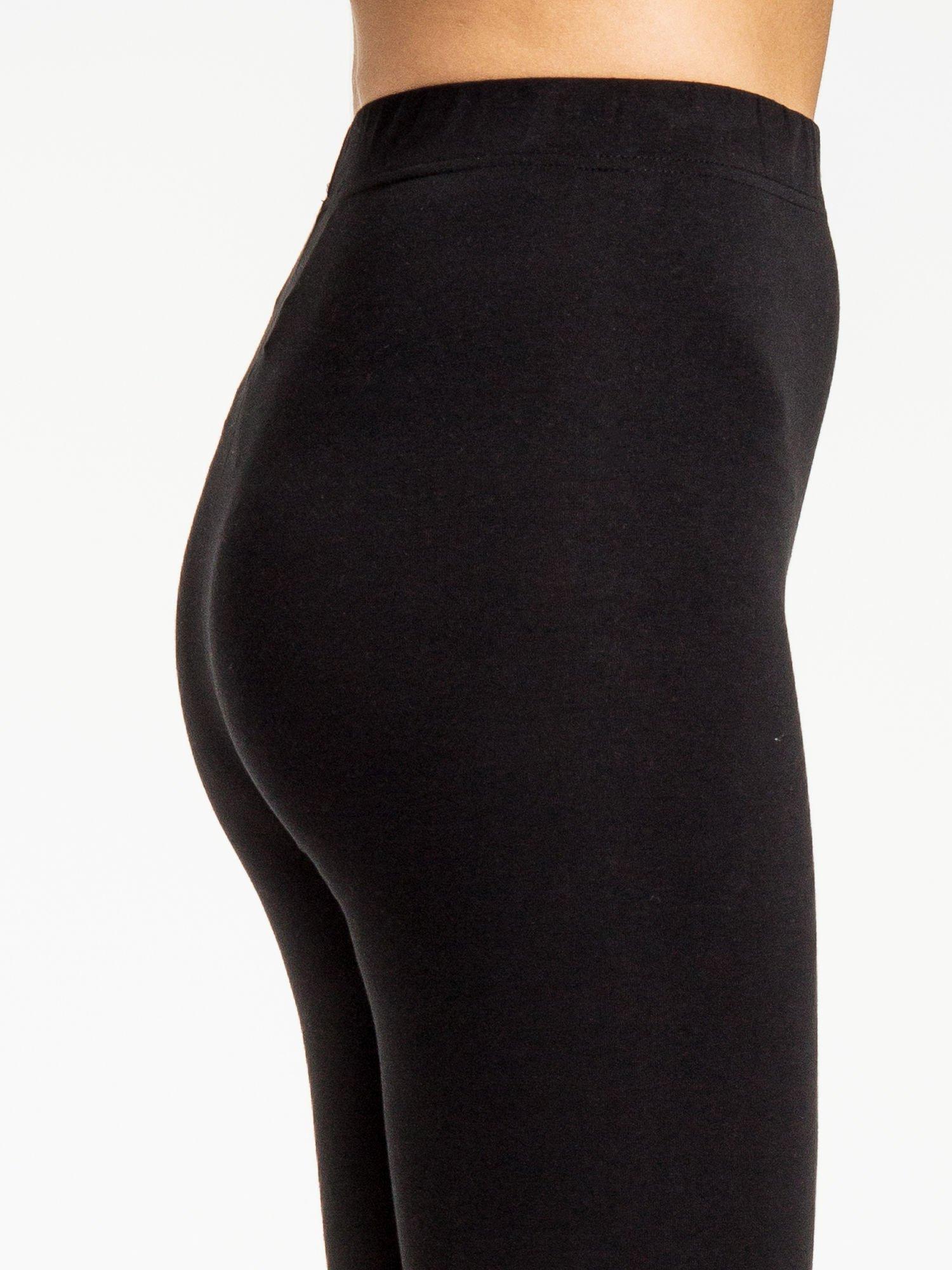Czarne legginsy z dżetami na dole                                  zdj.                                  6