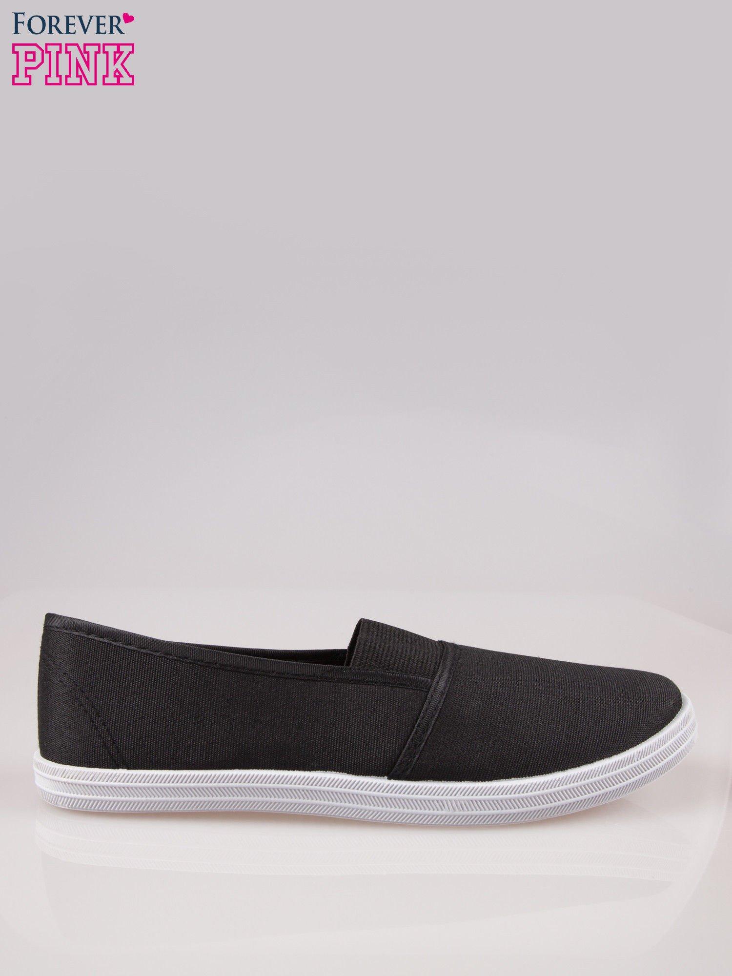 Czarne miękkie buty slip on                                  zdj.                                  1