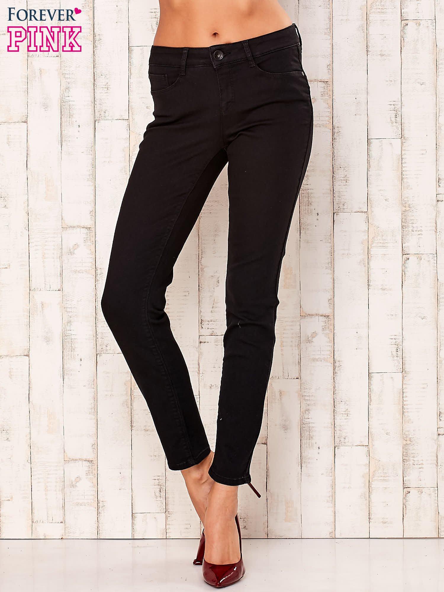 Czarne proste spodnie                                   zdj.                                  1