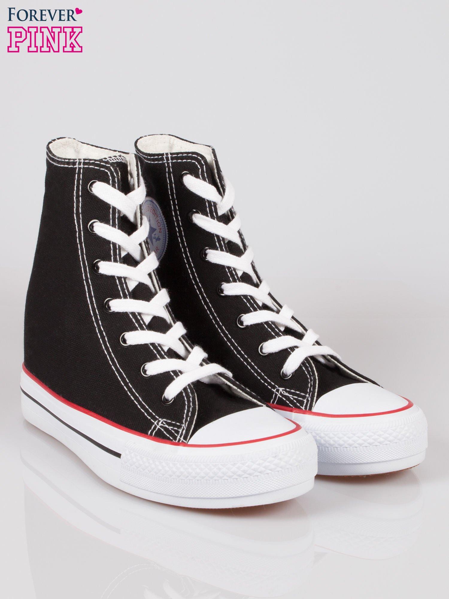 Czarne sneakersy trampki damskie na koturnie Liliana                                  zdj.                                  2