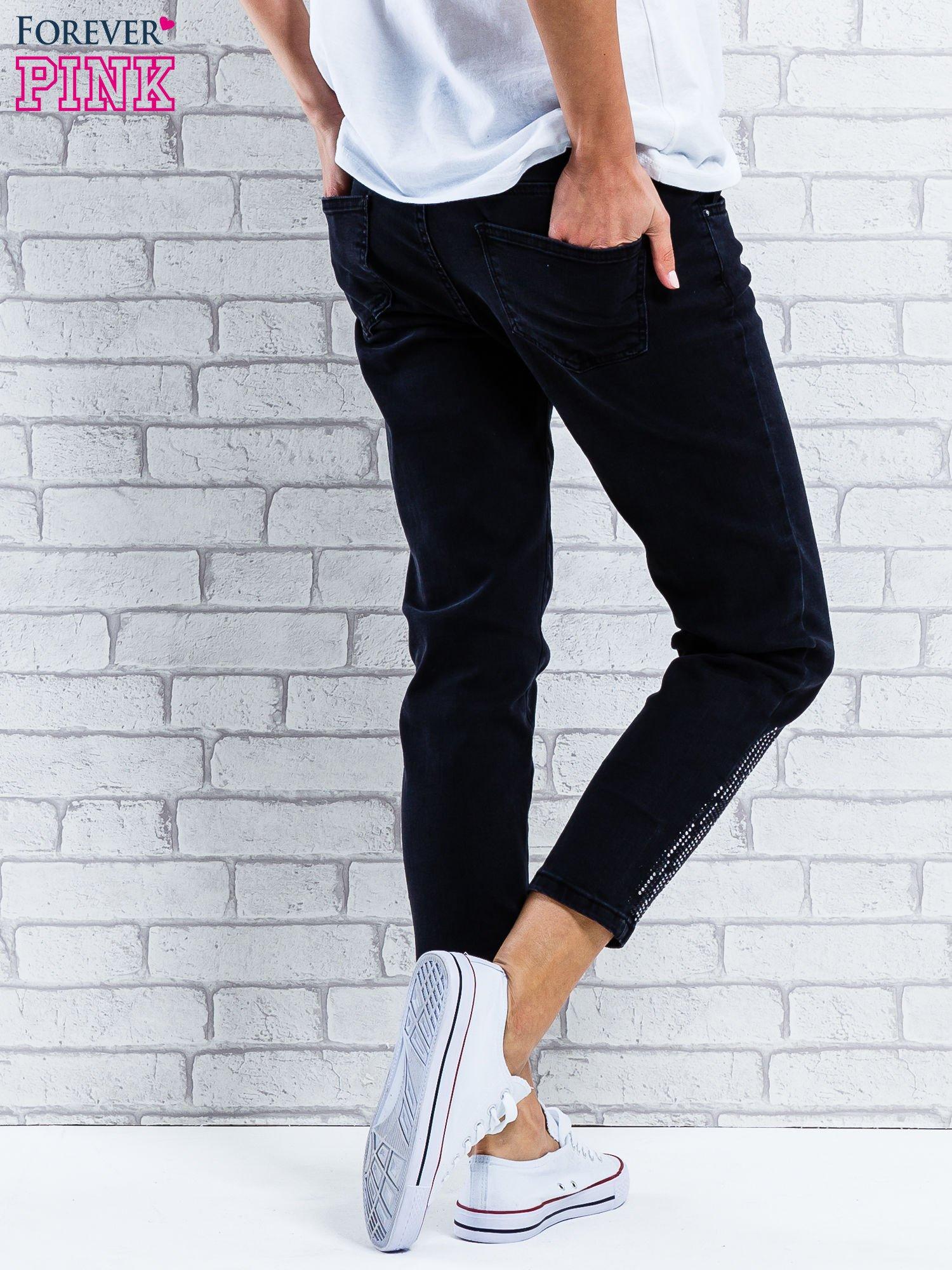 Sklep Regular Jeansowe Czarne Dżetami Jeans Z Spodnie wYWZwcqHpS
