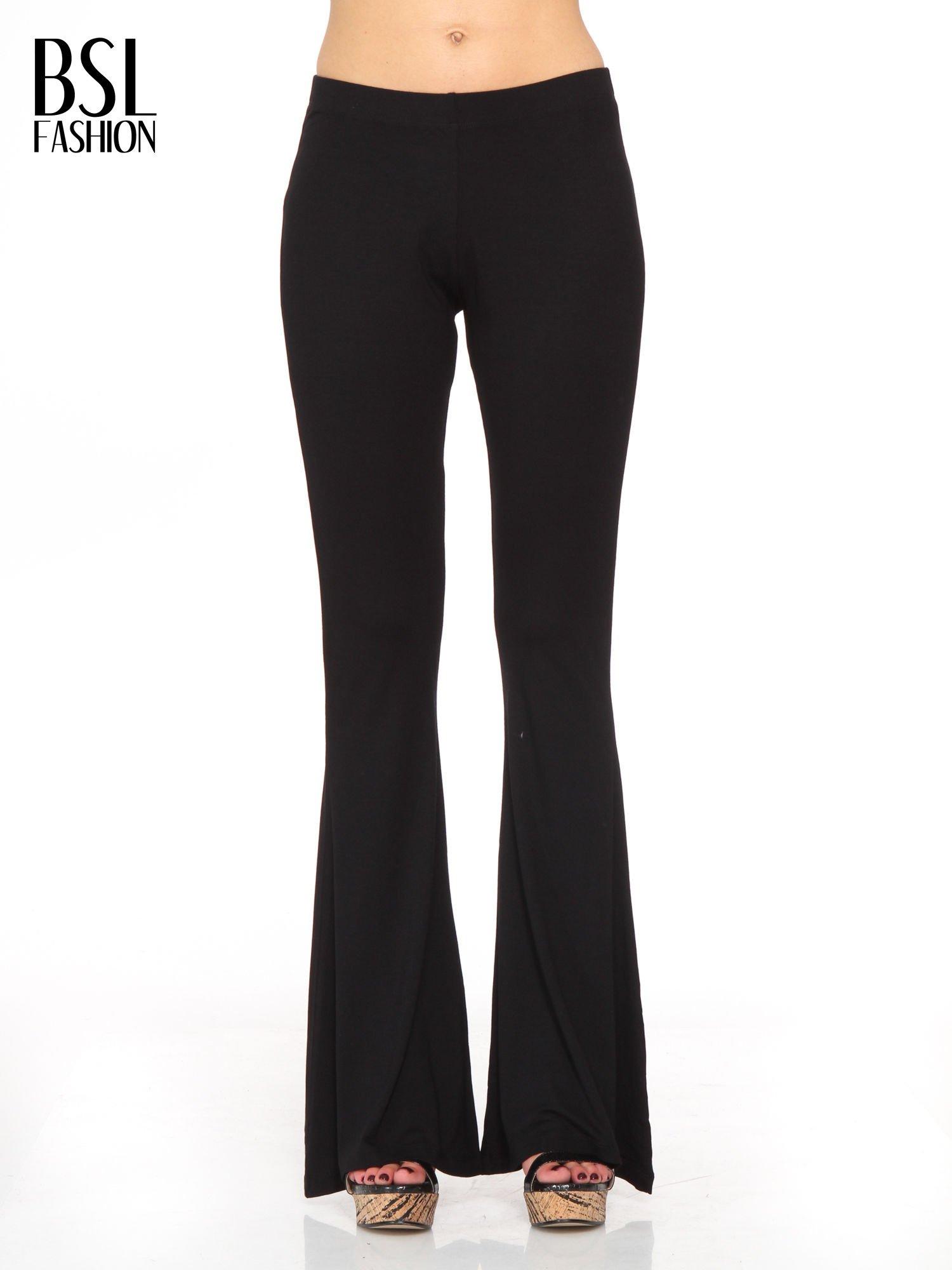 Czarne spodnie typu dzwony                                  zdj.                                  1