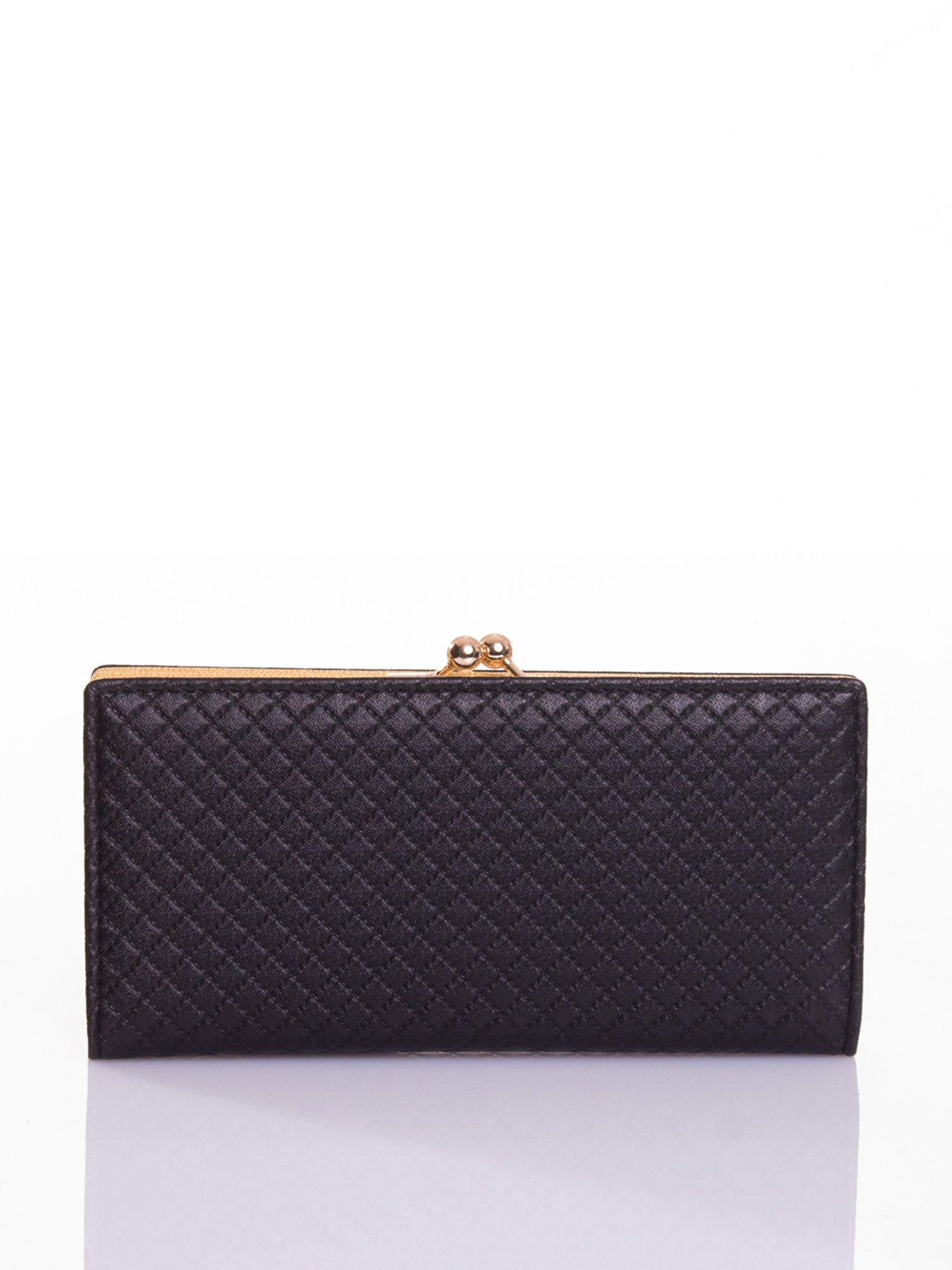 Czarny elegancki portfel na bigiel                                  zdj.                                  1