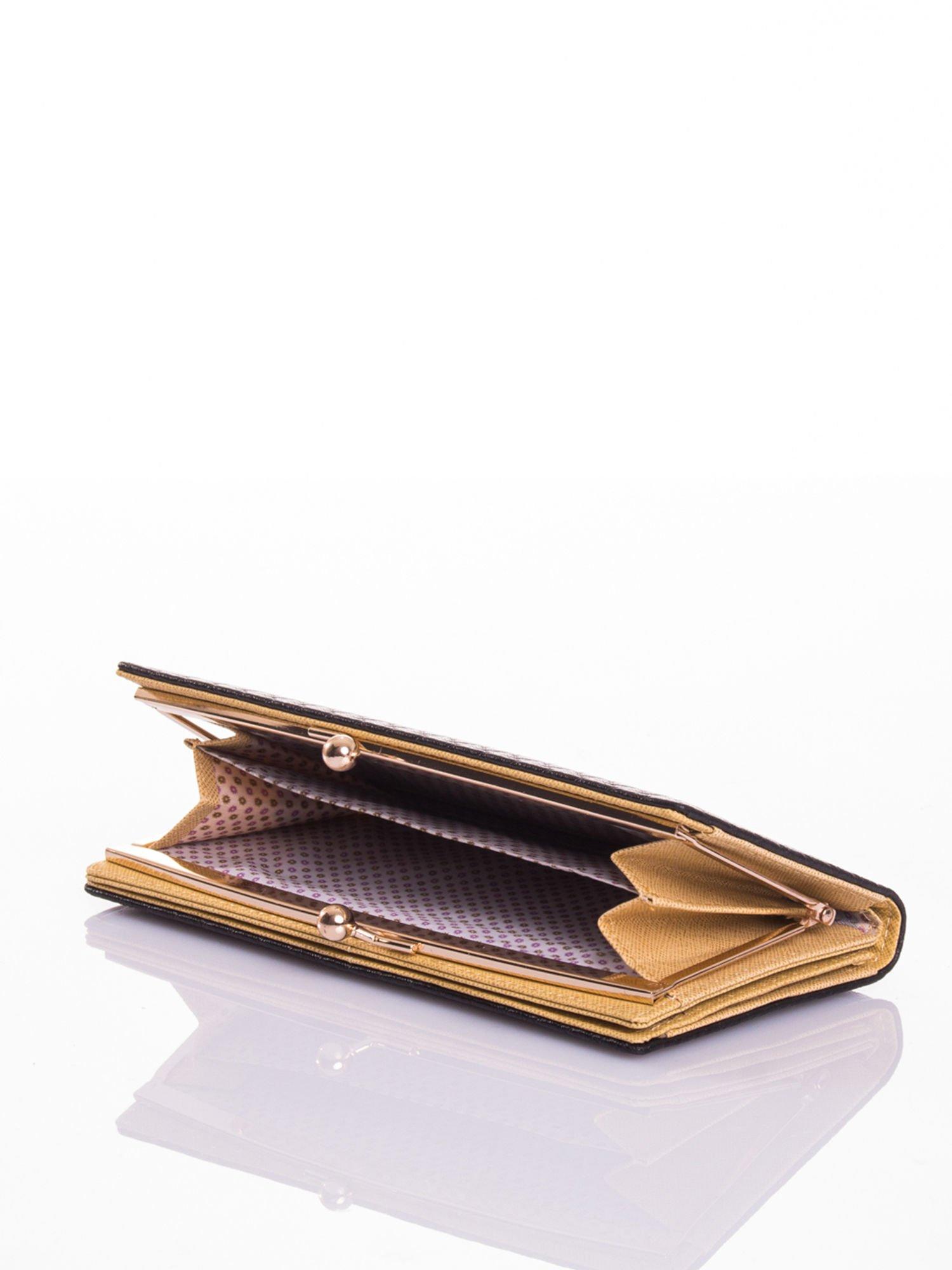 Czarny elegancki portfel na bigiel                                  zdj.                                  4