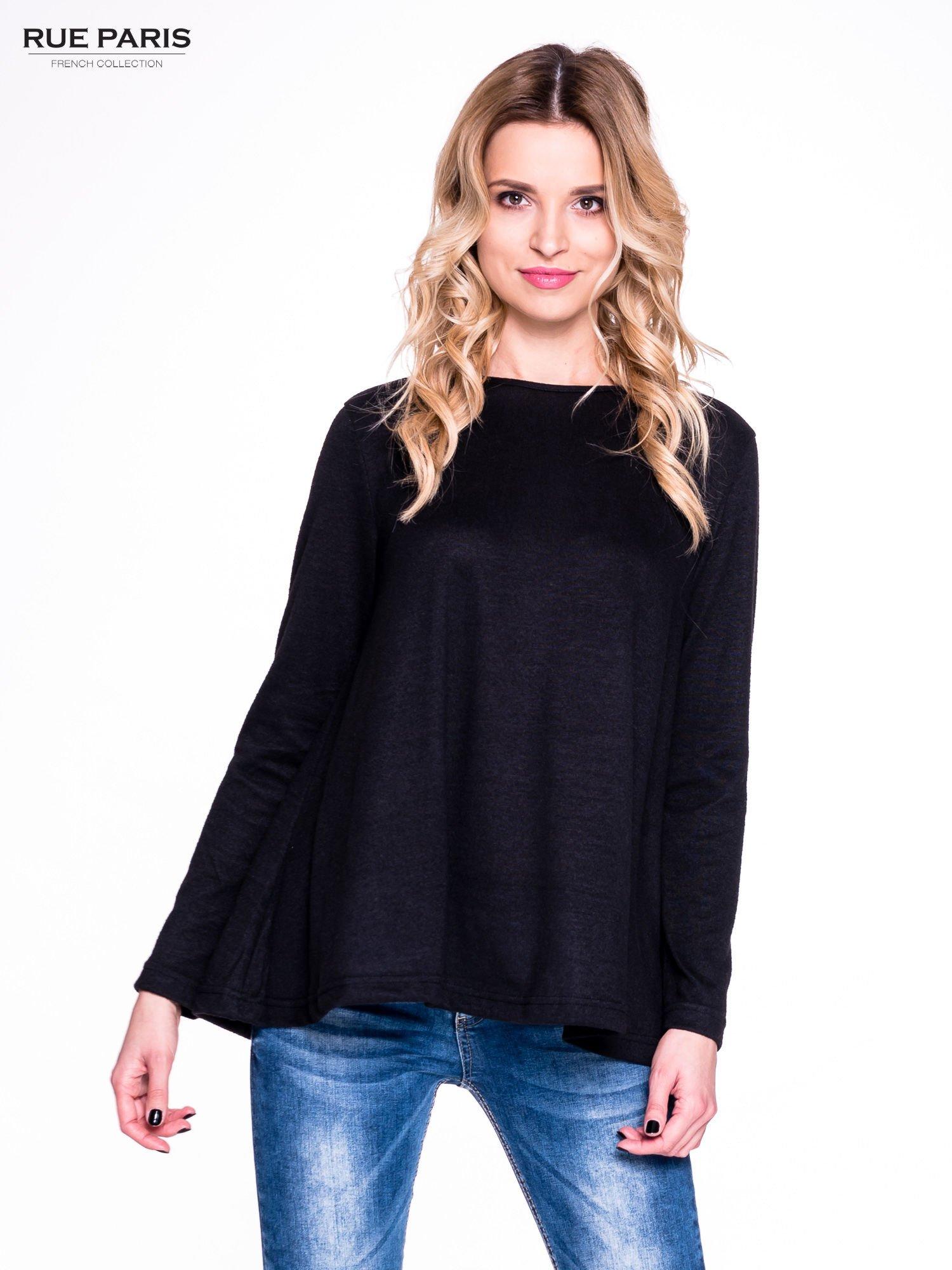 Czarny klasyczny sweterek                                  zdj.                                  1