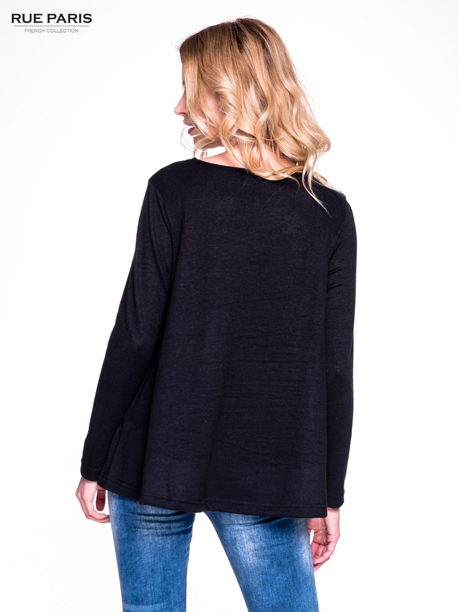 Czarny klasyczny sweterek                                  zdj.                                  4