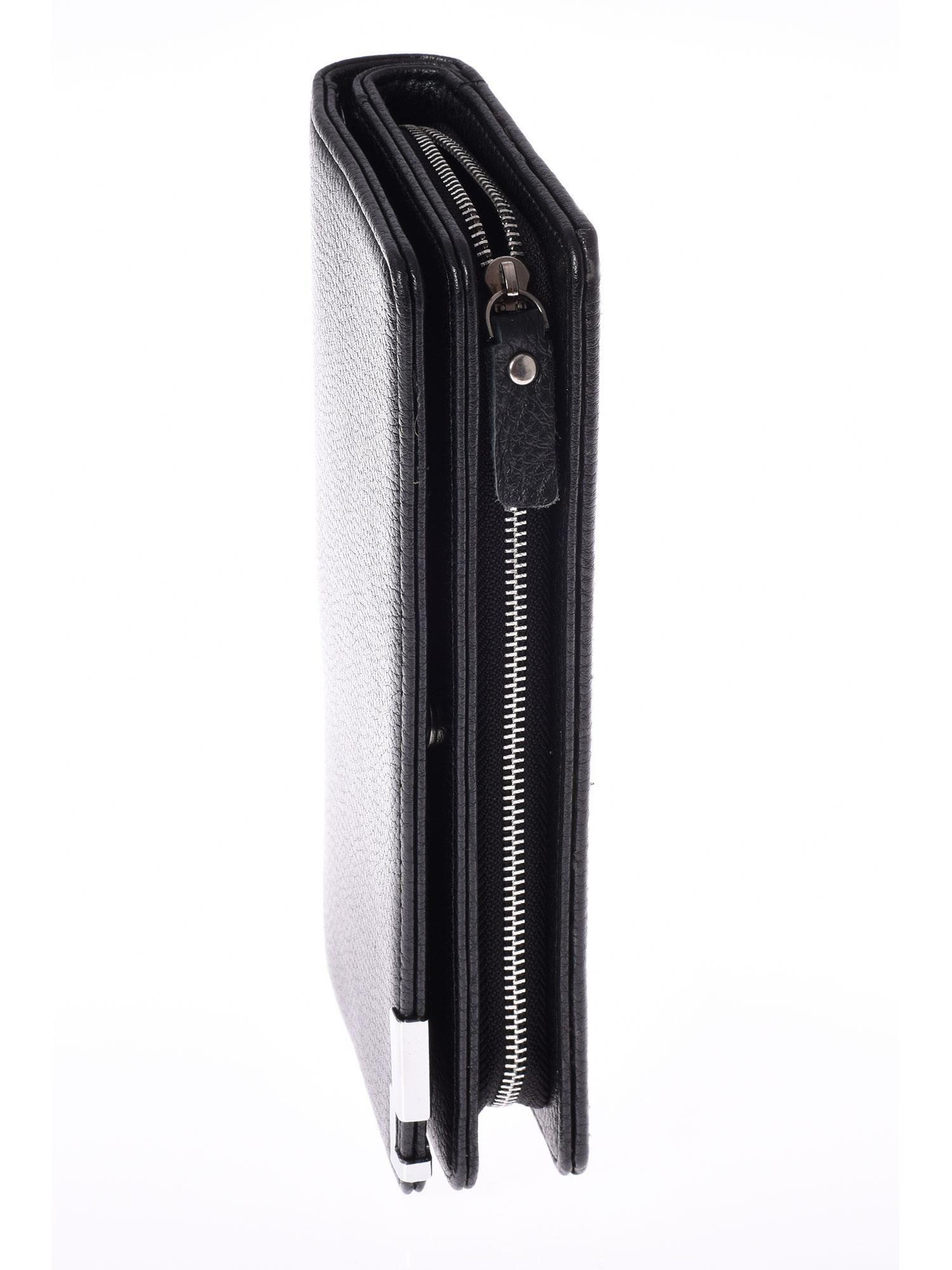 d7c1c64c7ee03 5 · Czarny matowy długi portfel kopertówka na zamek i zatrzask ...