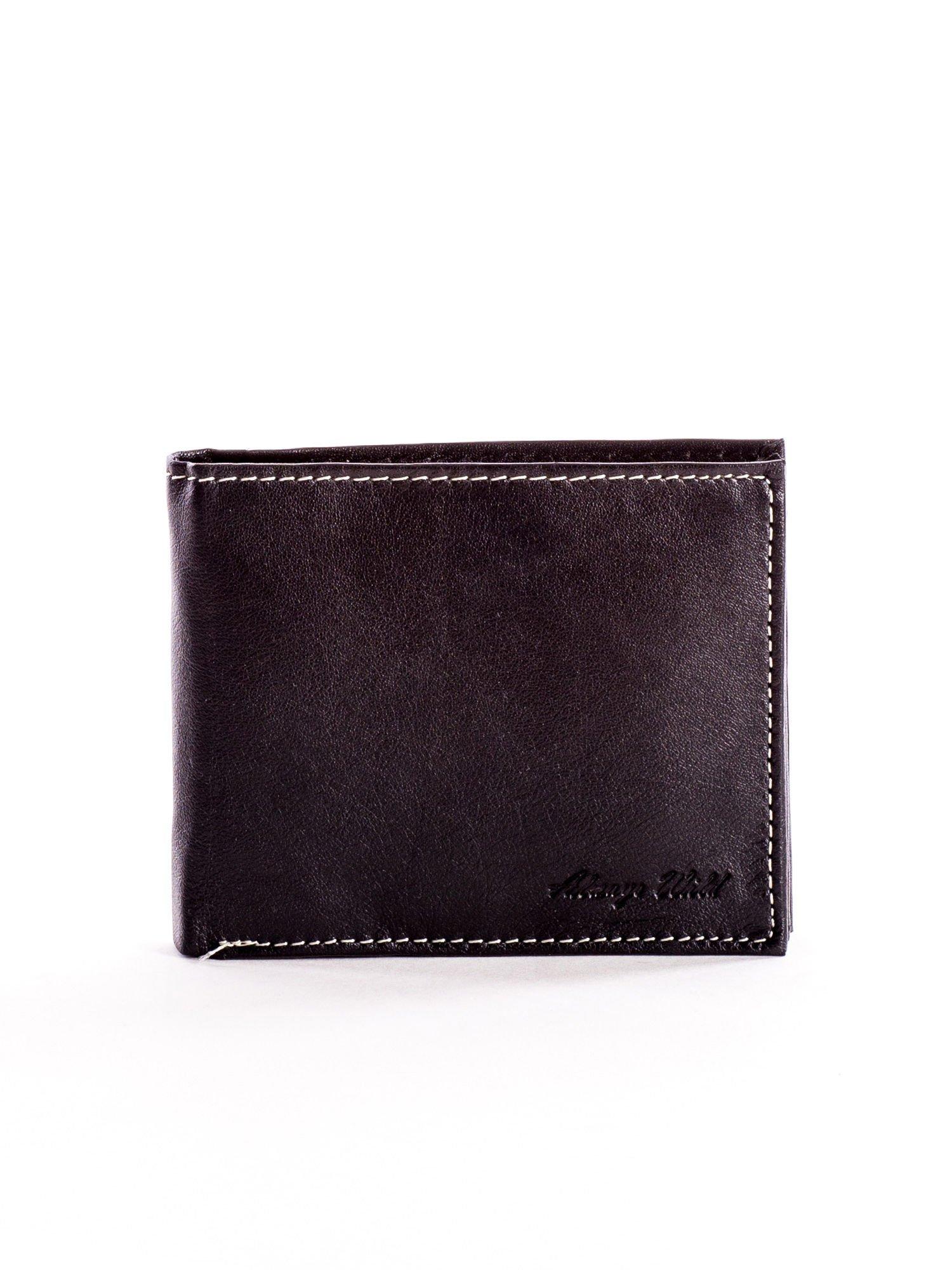 7086059e1fea6 Czarny miękki skórzany portfel dla mężczyzny - Mężczyźni portfel męski -  sklep eButik.pl