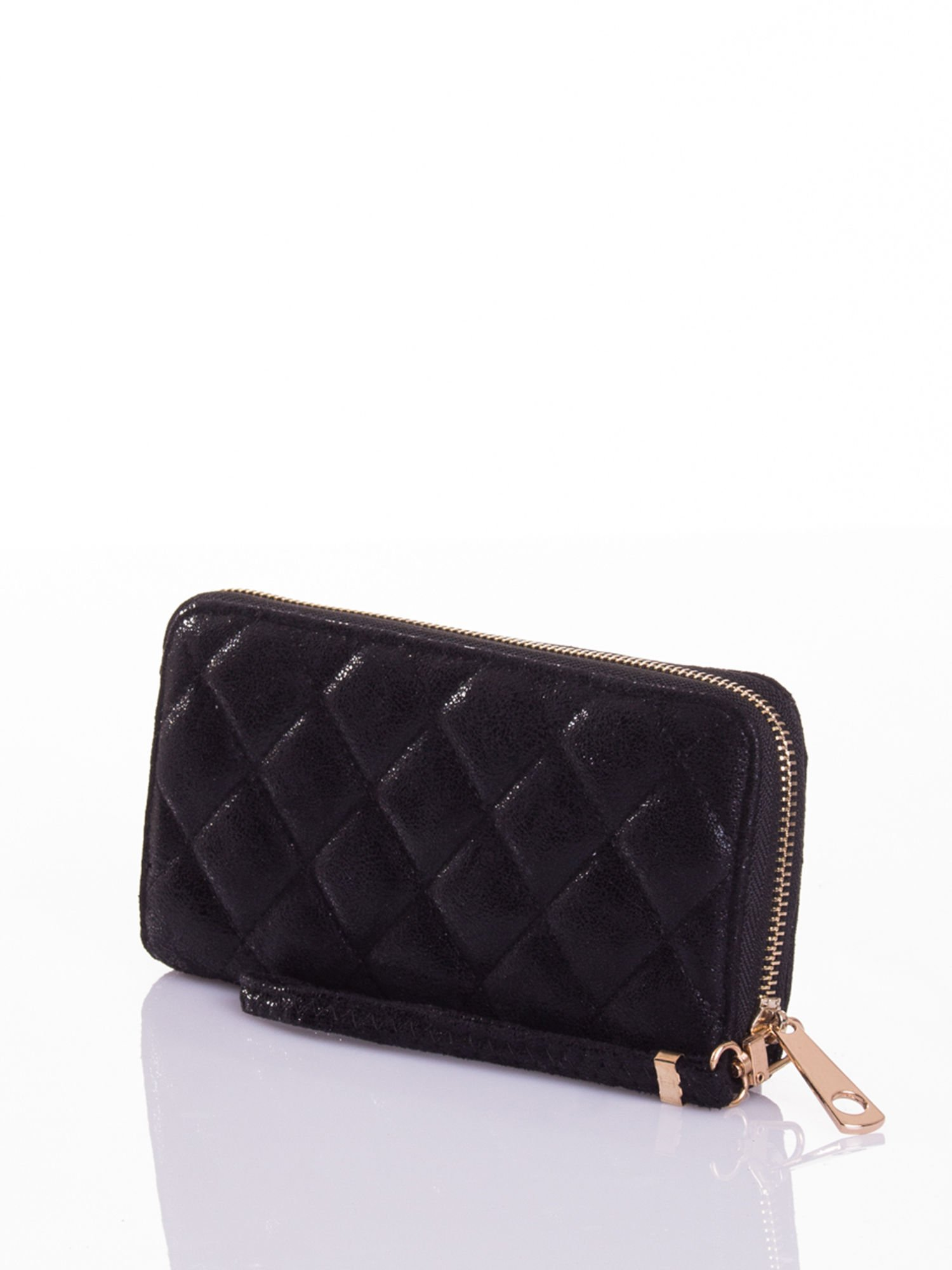 Czarny pikowany portfel                                  zdj.                                  5