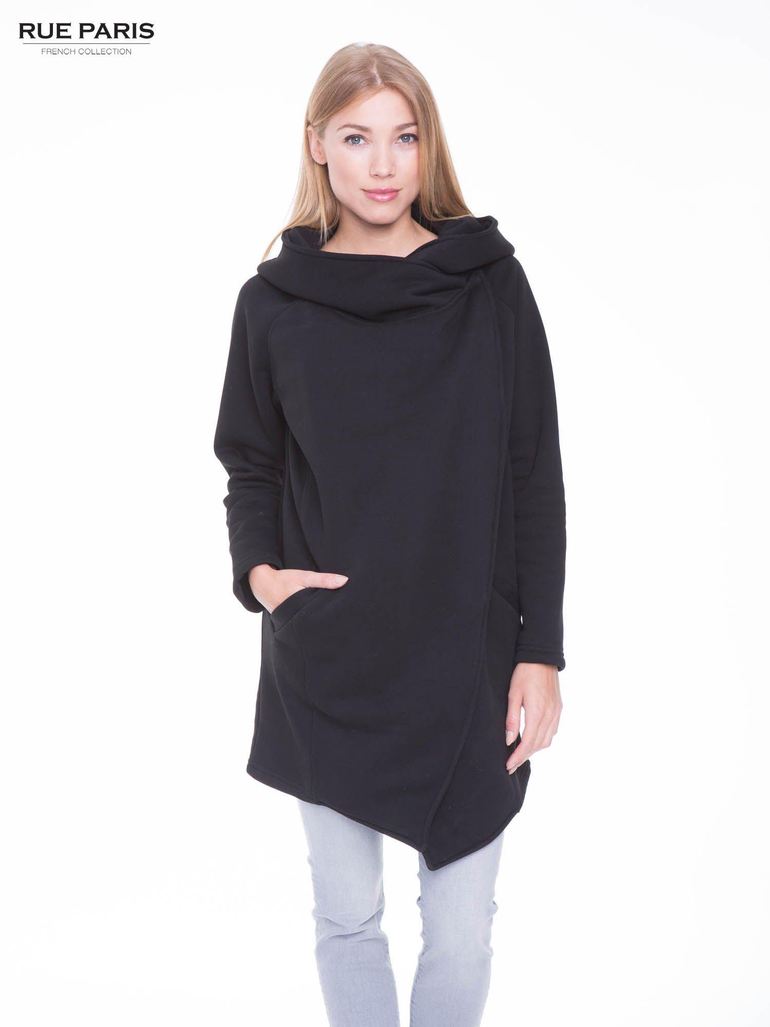 Czarny płaszcz dresowy                                  zdj.                                  1