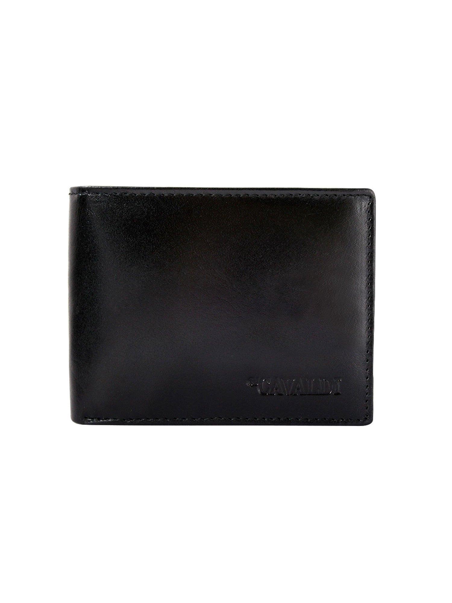 6990a9c9c451b Czarny portfel męski skórzany bez zapięcia - Mężczyźni portfel męski - sklep  eButik.pl