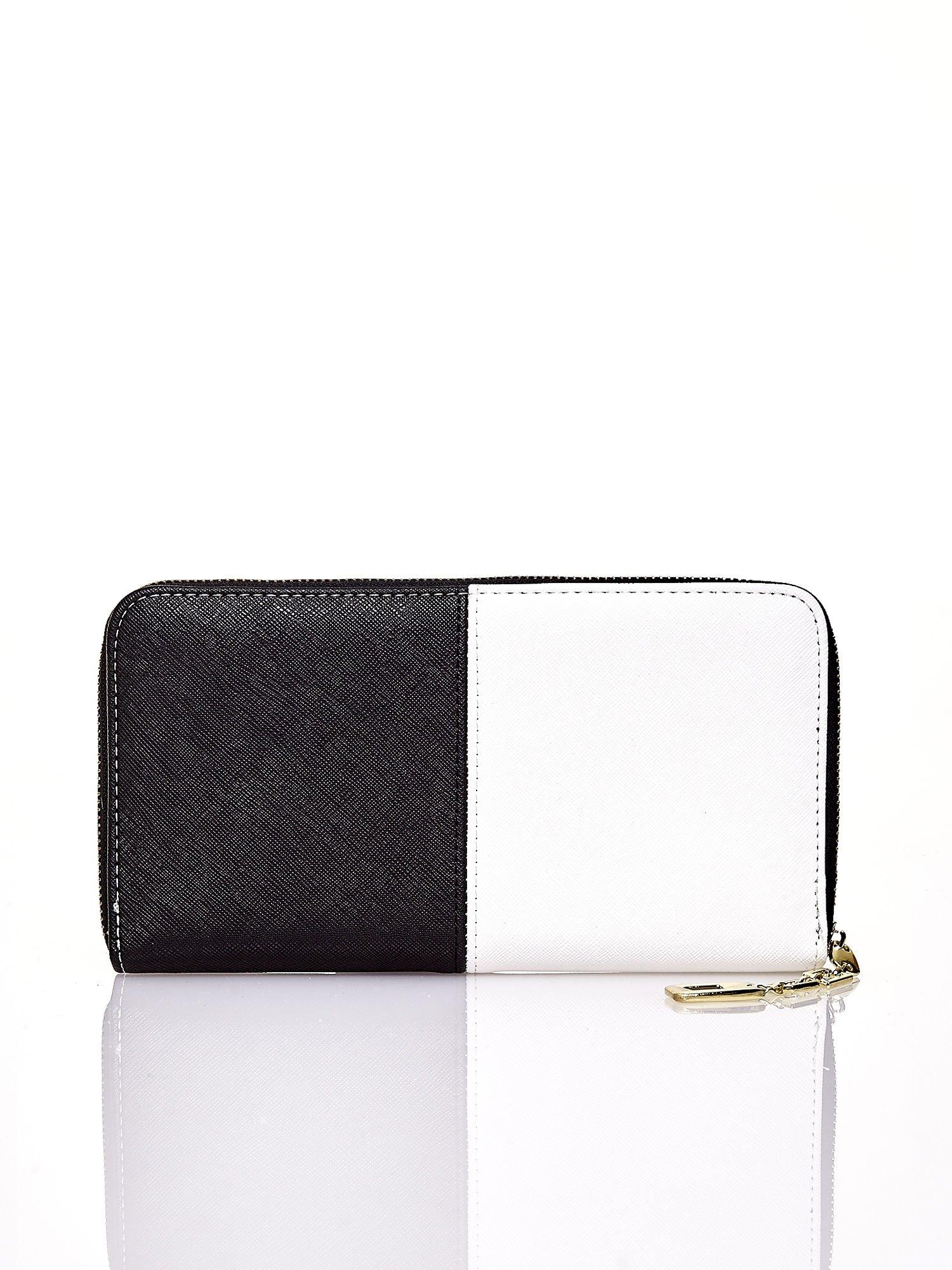 Czarny portfel two tone z uchwytem                                  zdj.                                  2