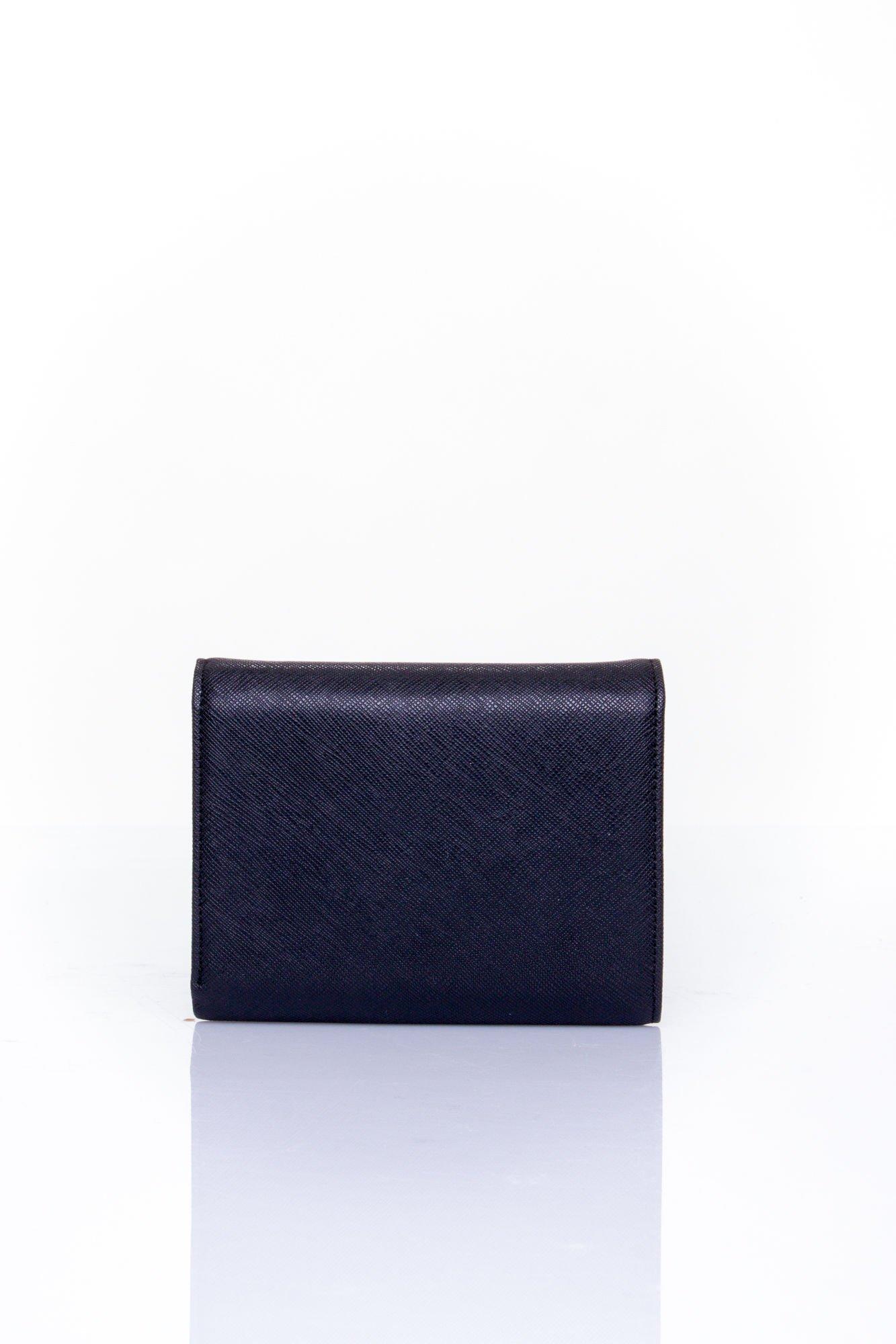 Czarny portfel z kokardką                                  zdj.                                  2