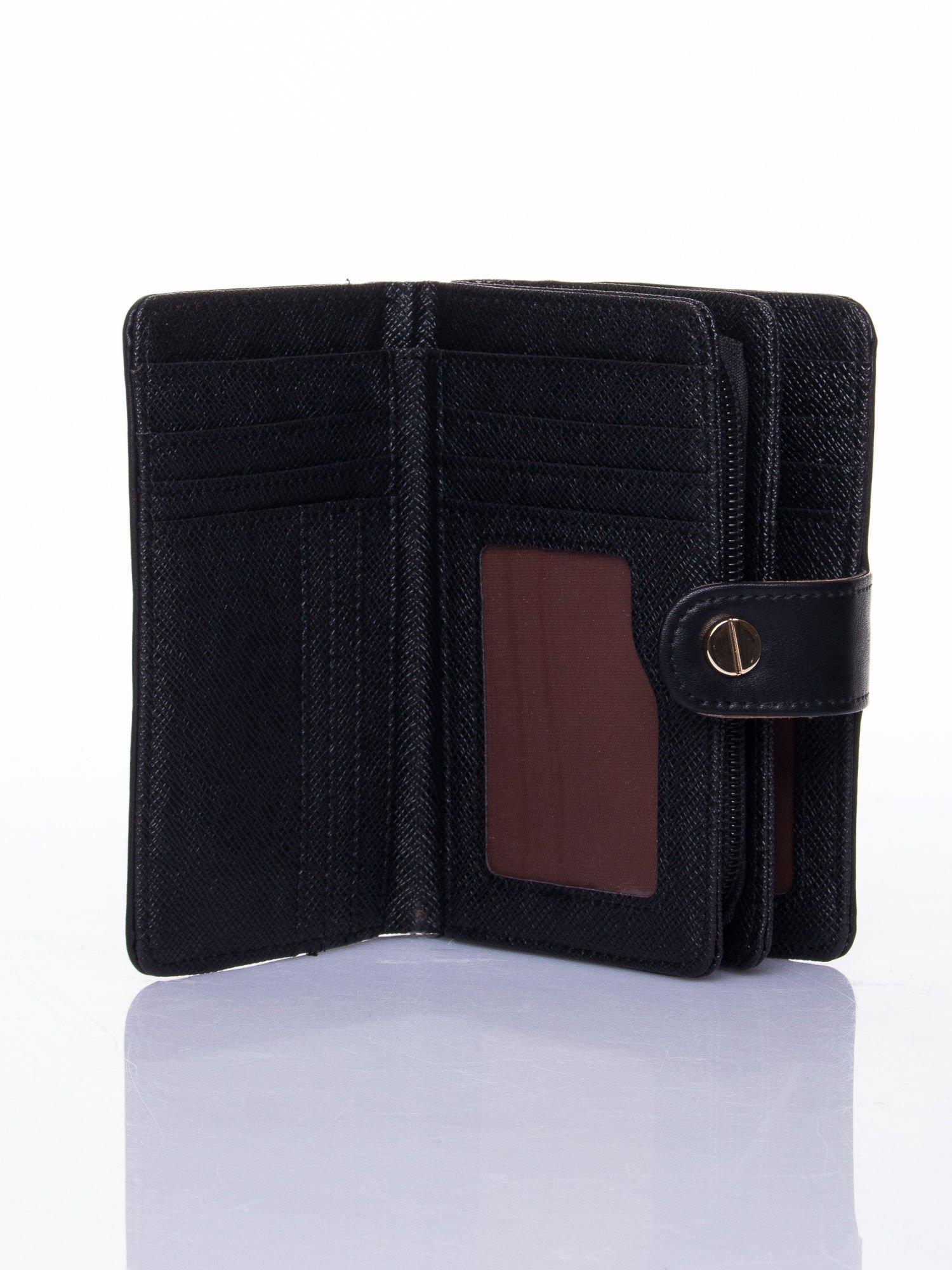 Czarny portfel z zatrzaskiem                                  zdj.                                  5