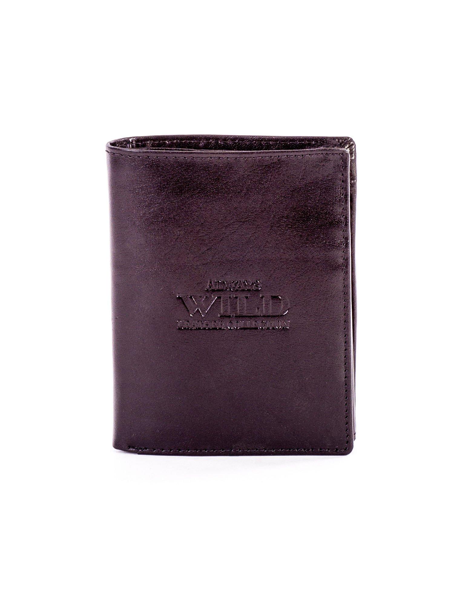 60f6d001f6646 Czarny skórzany portfel dla mężczyzny z tłoczeniem - Mężczyźni ...