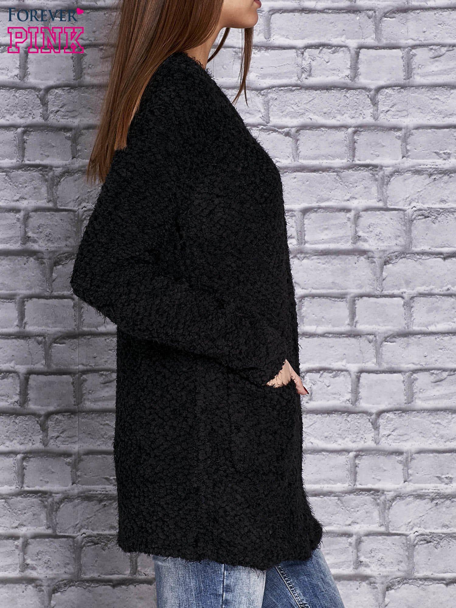 4ac547b3d0fa Czarny sweter long hair zapinany na suwak - Sweter długi - sklep eButik.pl