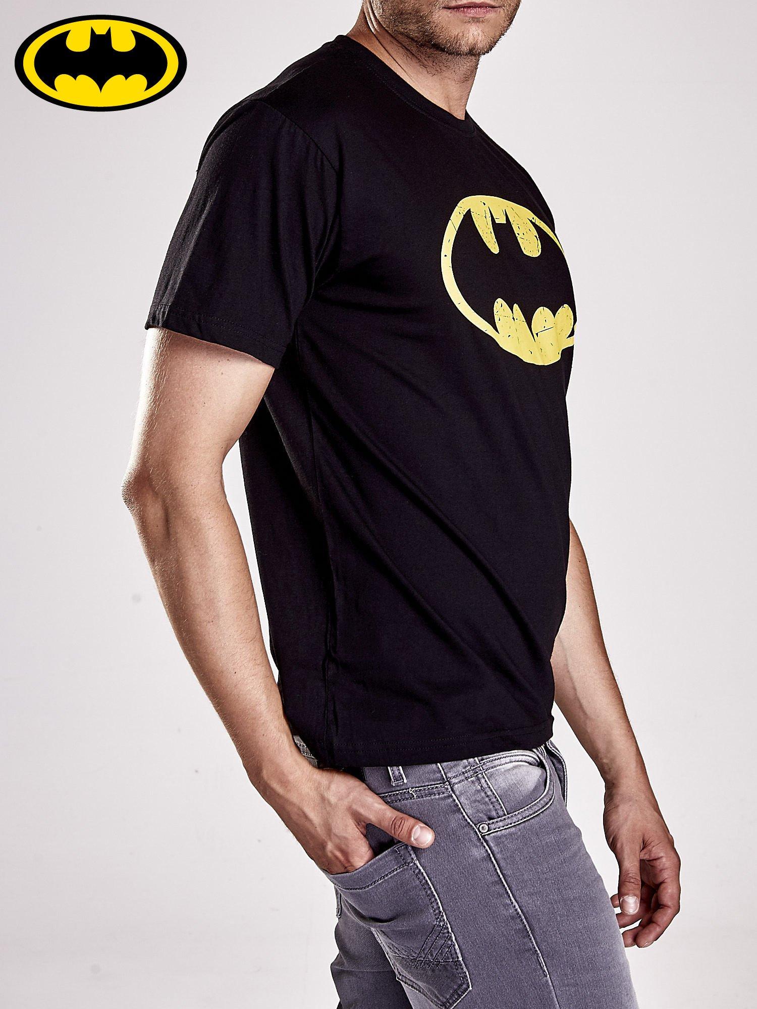 Czarny t-shirt męski BATMAN                                  zdj.                                  5