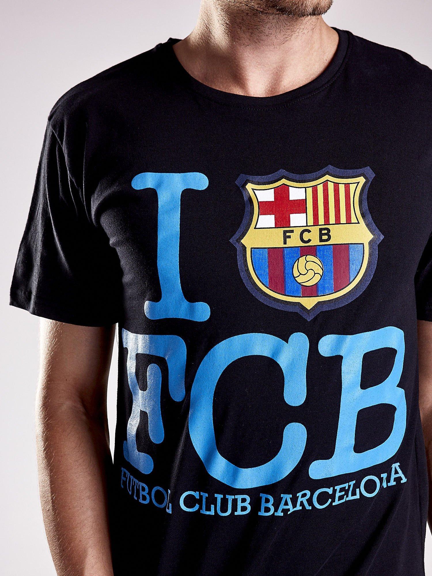 Czarny t-shirt męski FC BARCELONA                                  zdj.                                  8
