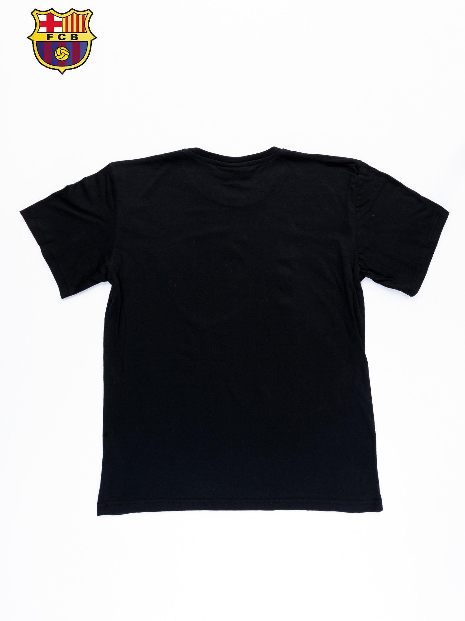 Czarny t-shirt męski FC BARCELONA                                  zdj.                                  11