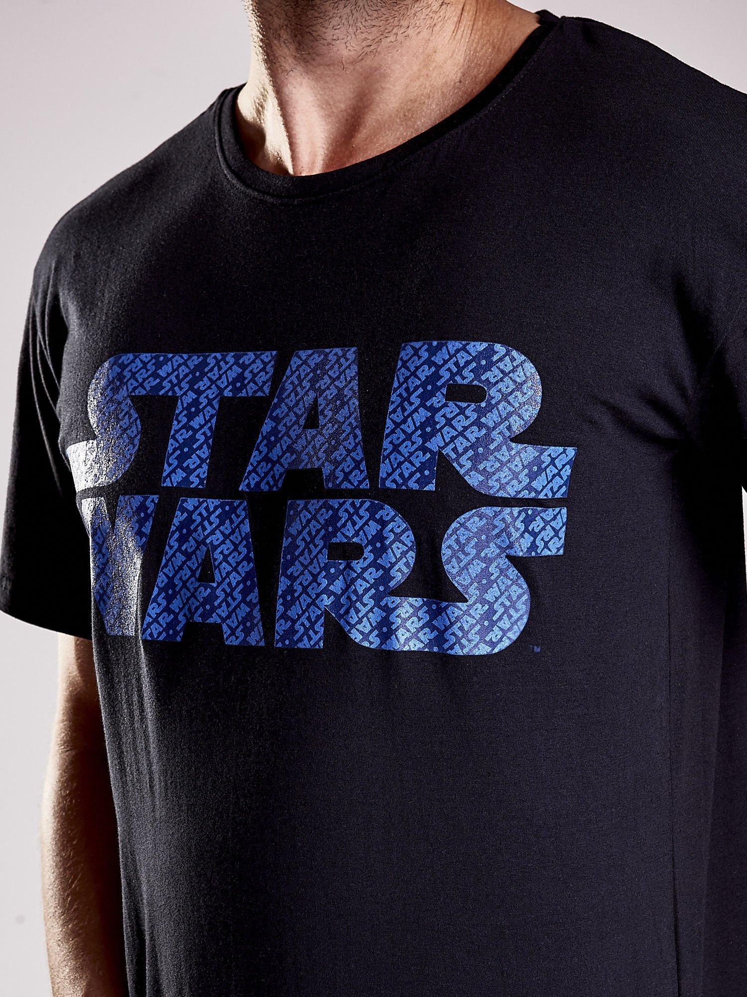 Czarny t-shirt męski z nadrukiem STAR WARS                                  zdj.                                  7