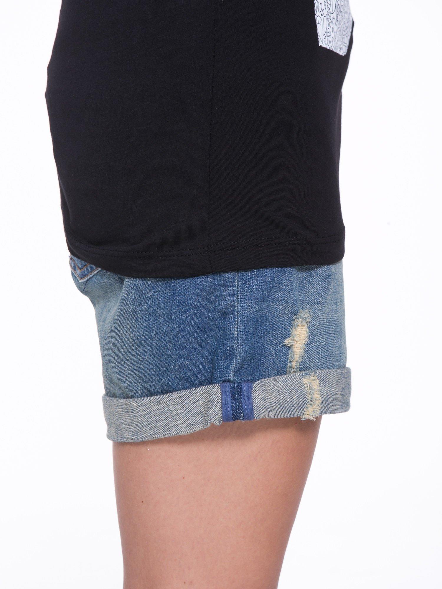Czarny t-shirt z nadukiem DUDE z przodu i na plecach                                  zdj.                                  9