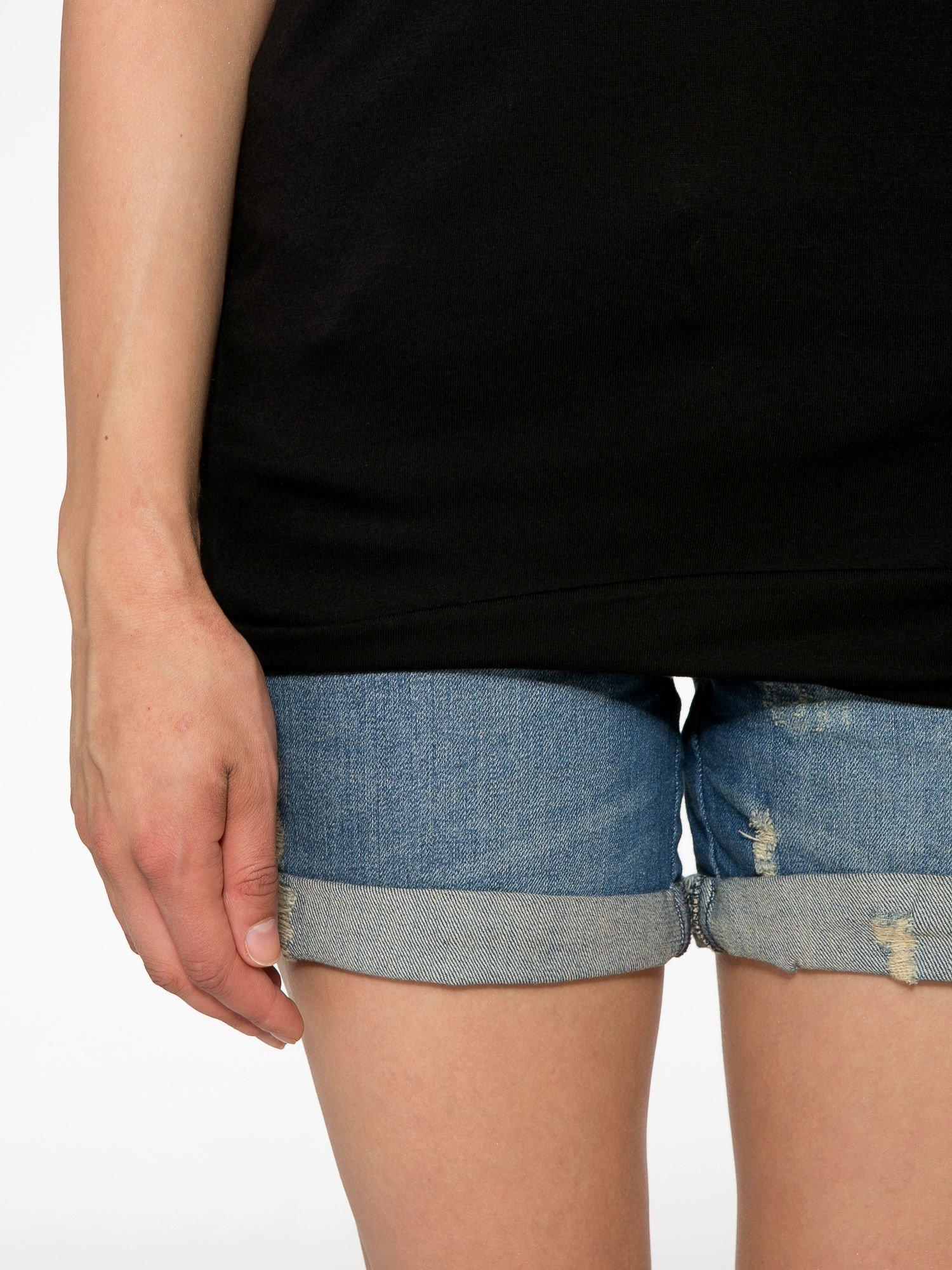 Czarny t-shirt z napisem DÉSIRÉ z dżetami                                  zdj.                                  6