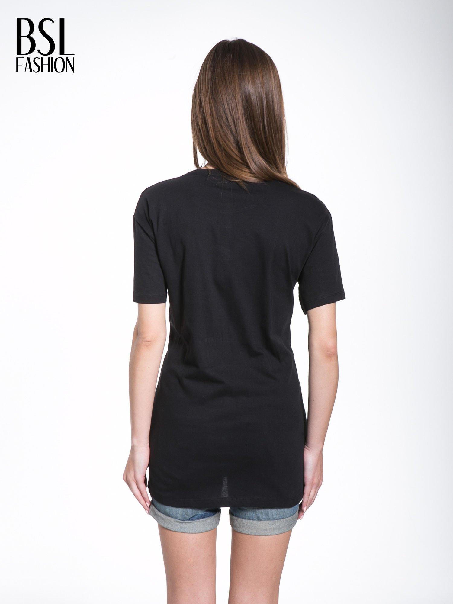 Czarny t-shirt ze złotym nadrukiem HOMIES SOUTH CENTRAL                                  zdj.                                  4