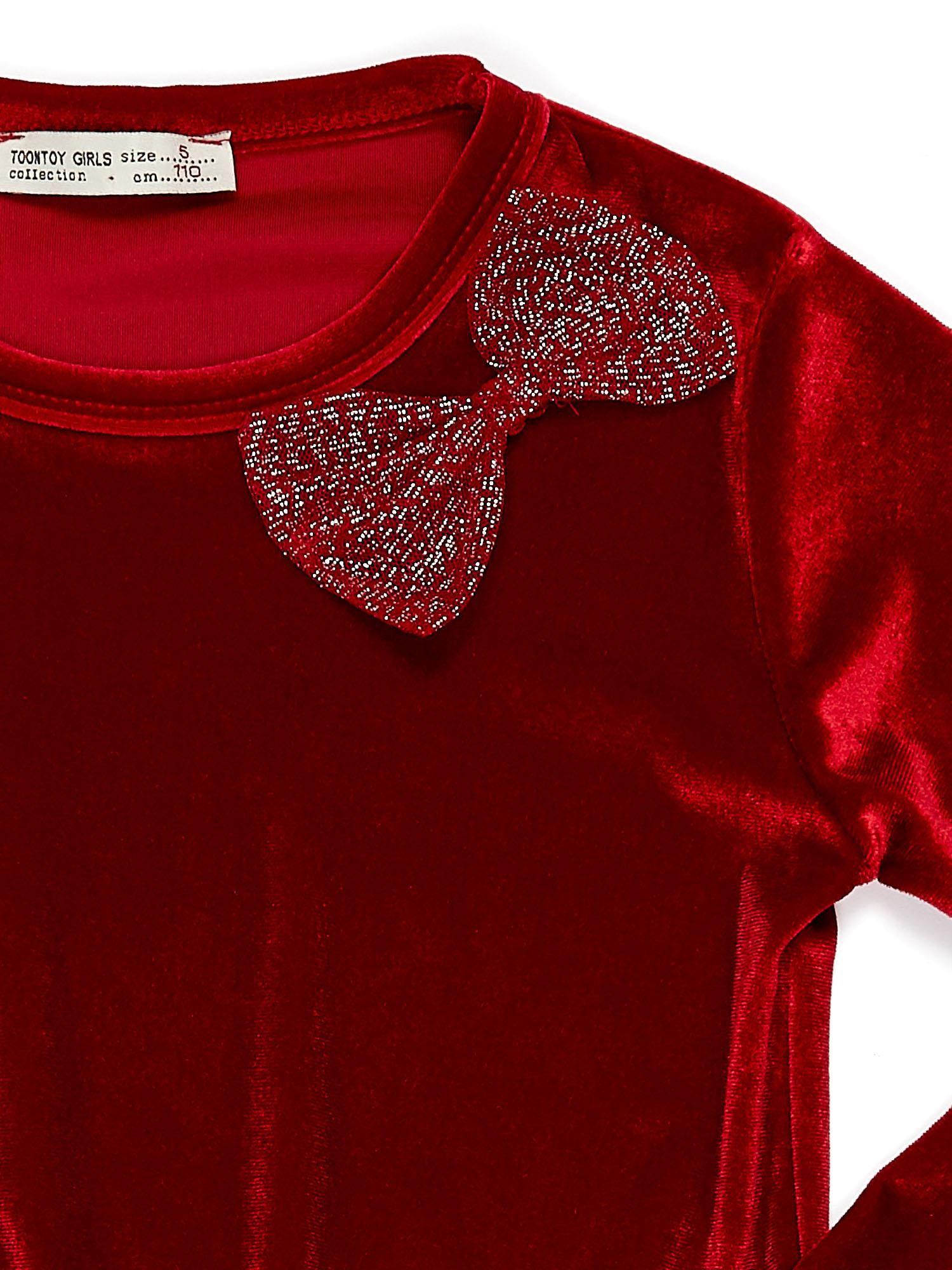 dea7328dcb Czerwona aksamitna sukienka dla dziewczynki - Dziecko Dziewczynka ...