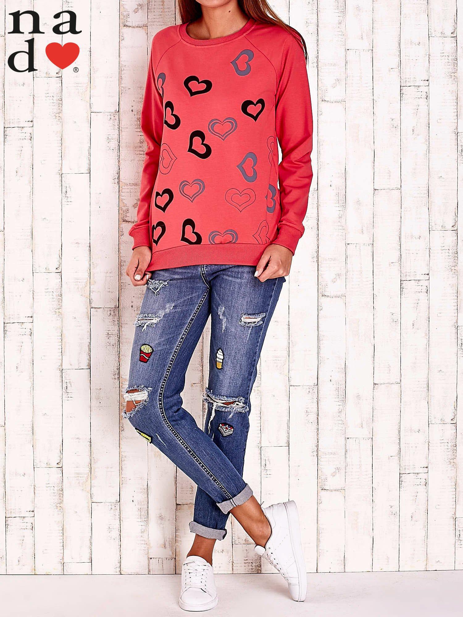 Czerwona bluza w serduszka                                  zdj.                                  4