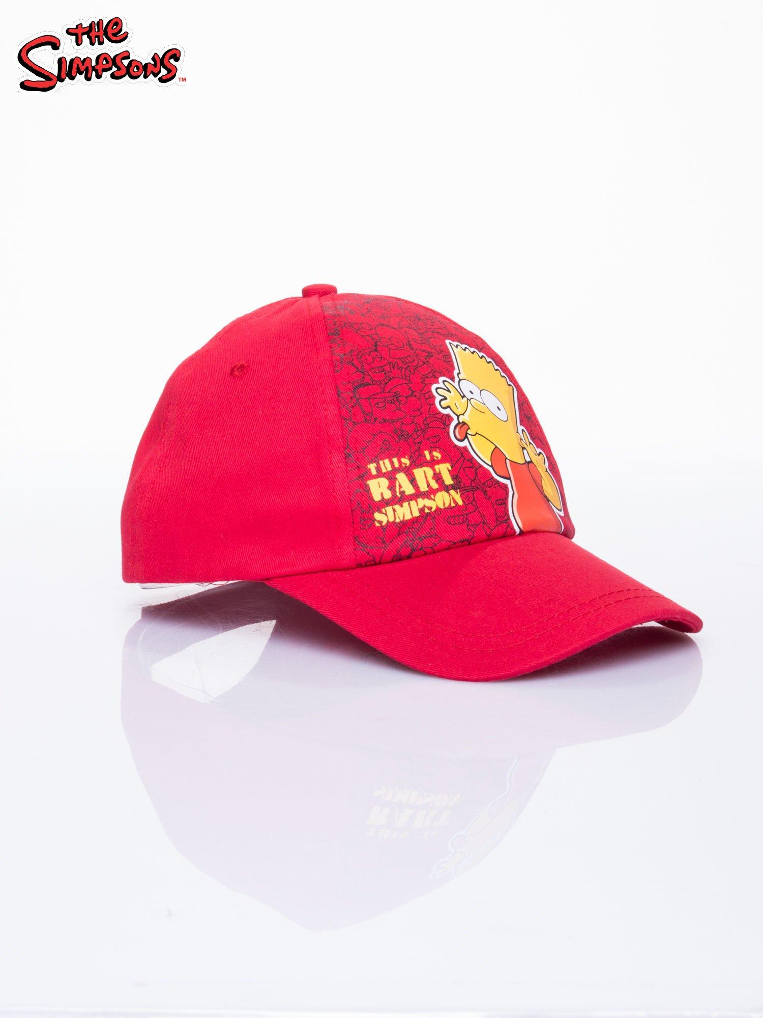 Czerwona chłopięca czapka z daszkiem SIMPSONOWIE                                  zdj.                                  2
