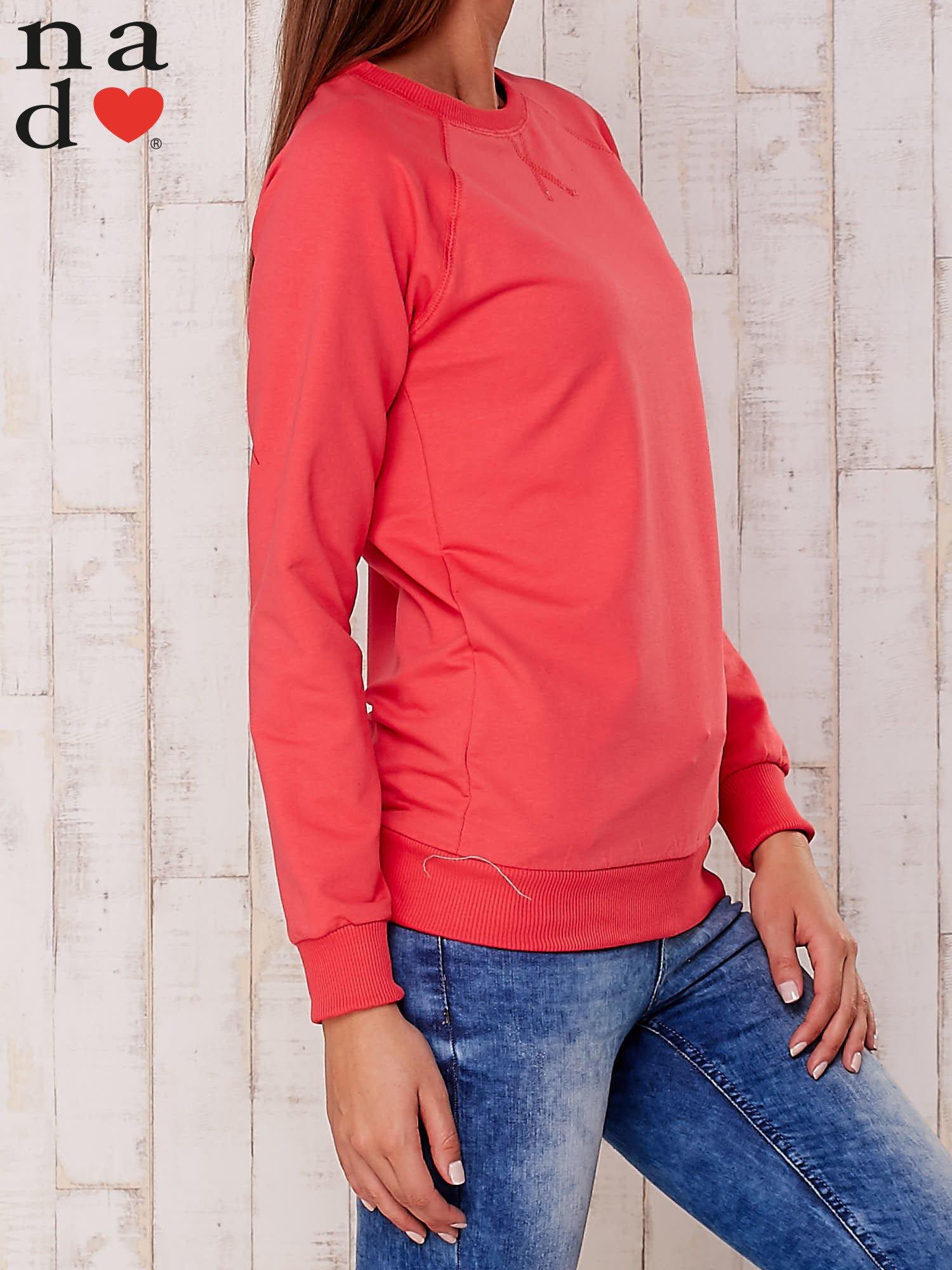 Czerwona gładka bluza                                  zdj.                                  3