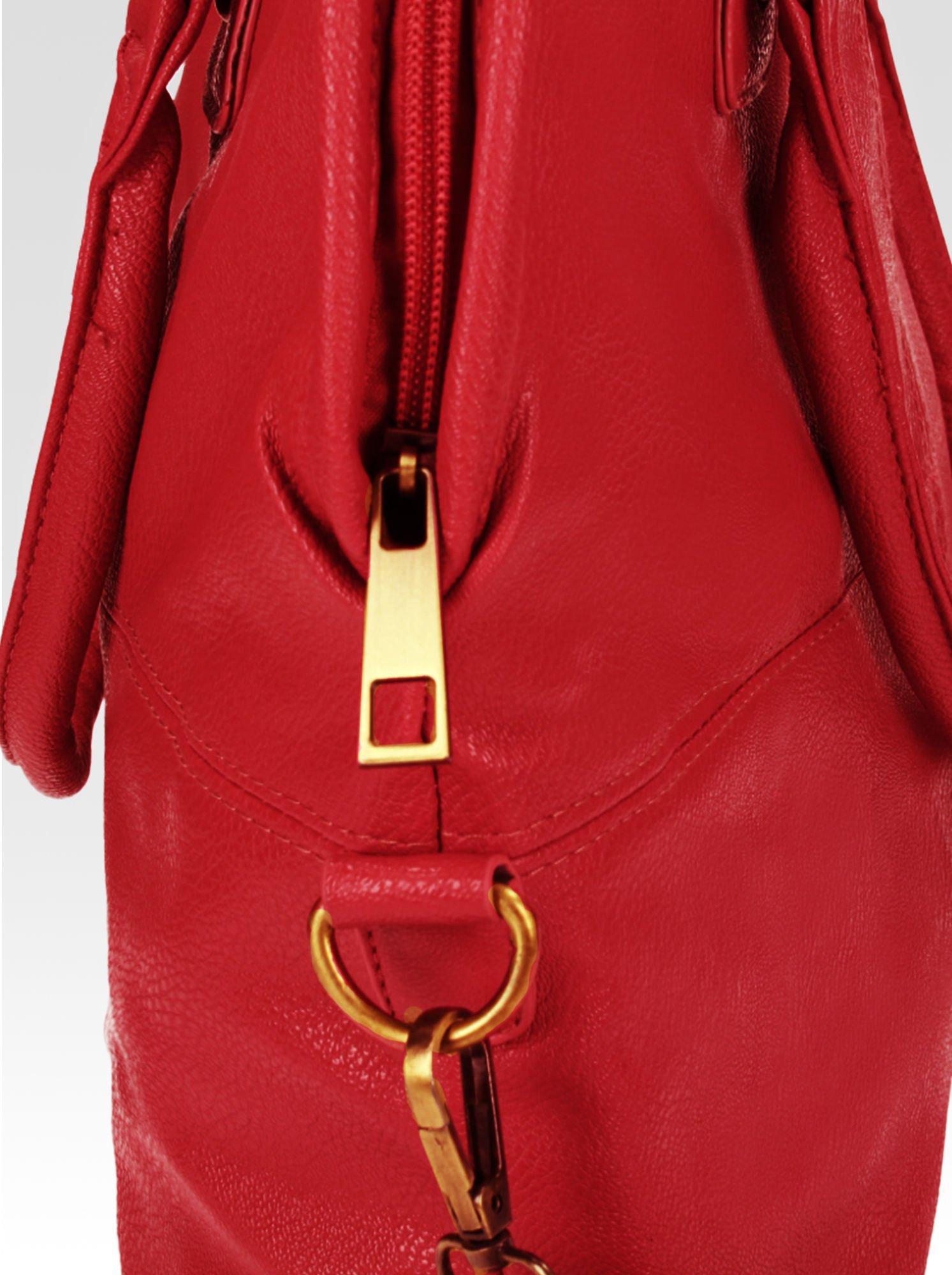Czerwona torba miejska na ramię                                  zdj.                                  6