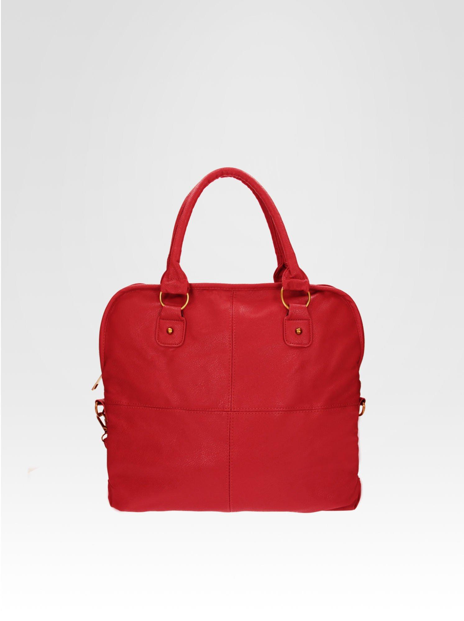 Czerwona torba miejska na ramię                                  zdj.                                  5
