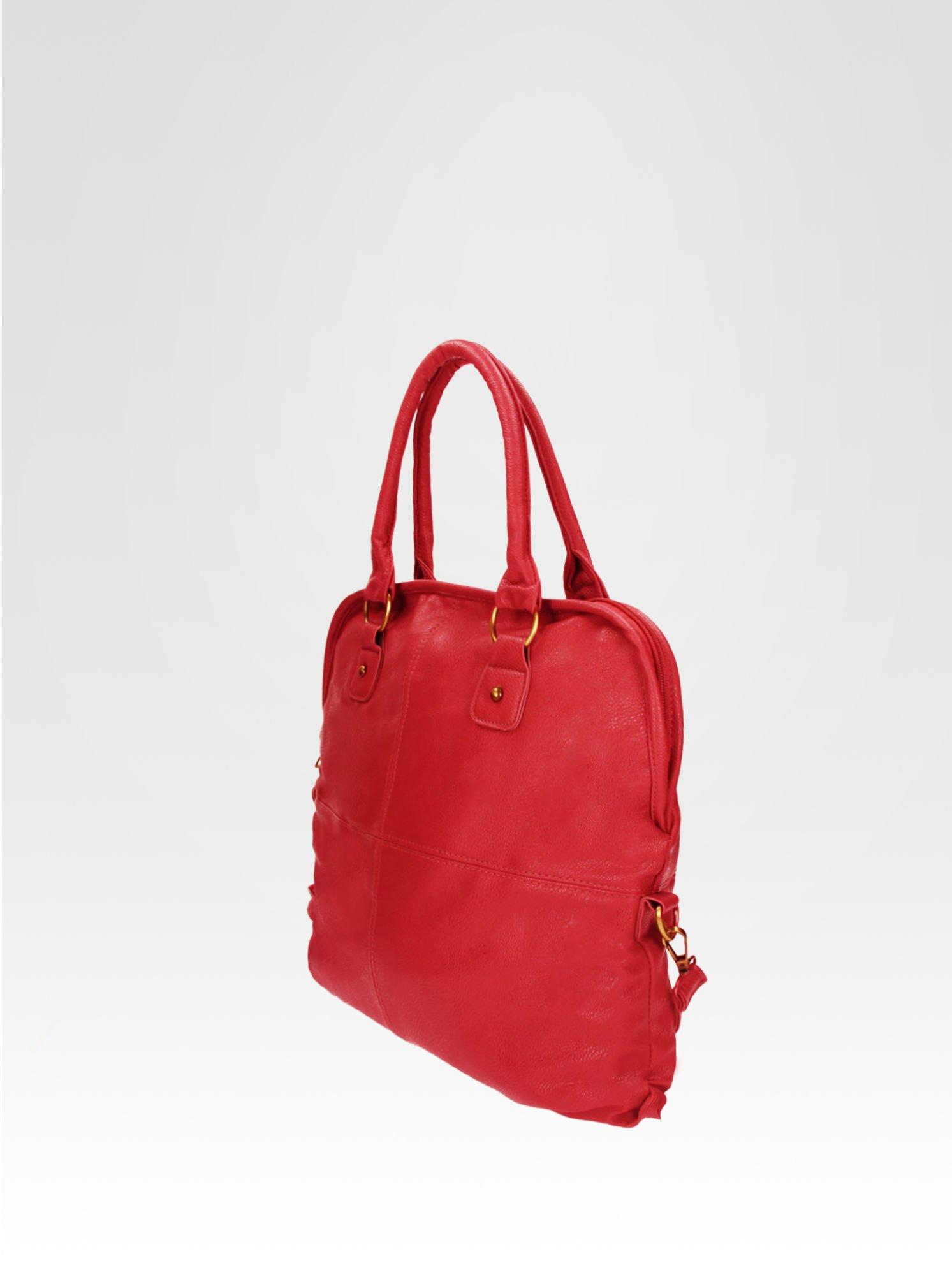 Czerwona torba miejska na ramię                                  zdj.                                  3
