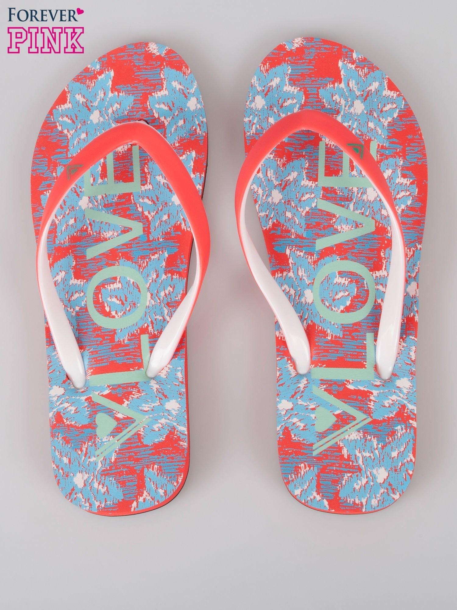 Czerwone japonki Whats Up plażowe kąpielowe                                  zdj.                                  3