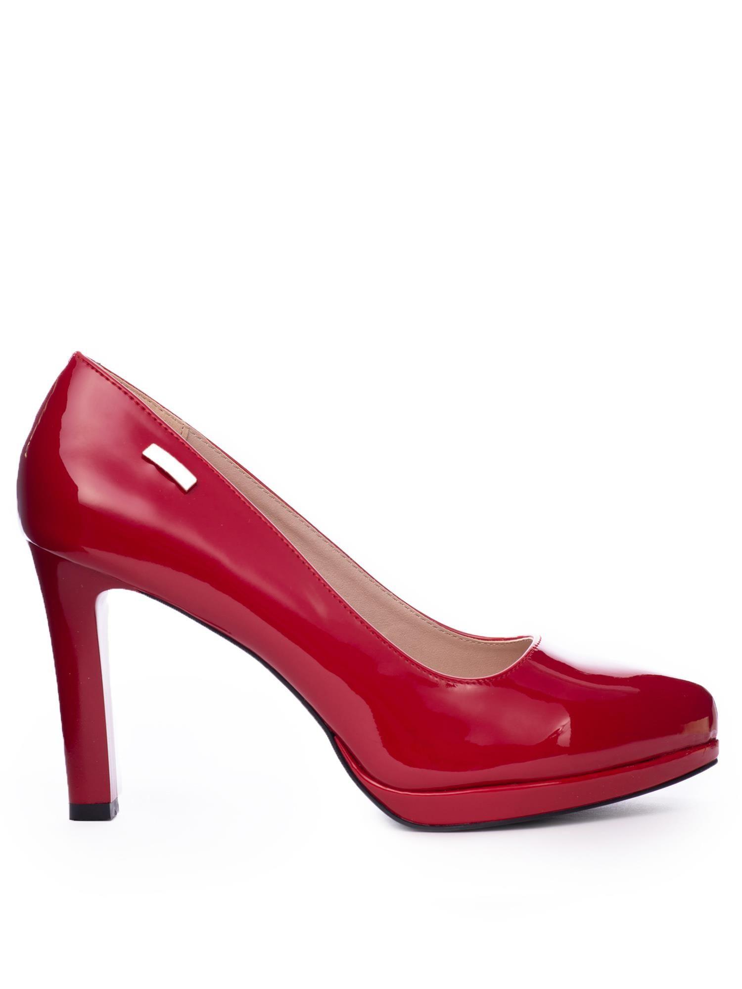 f4f4998aed5741 Czerwone lakierowane szpilki Sergio Leone na platformie - Buty ...