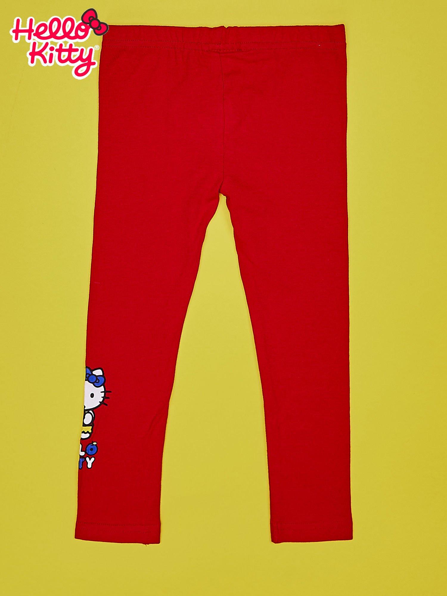 Czerwone legginsy dla dziewczynki HELLO KITTY                                  zdj.                                  2