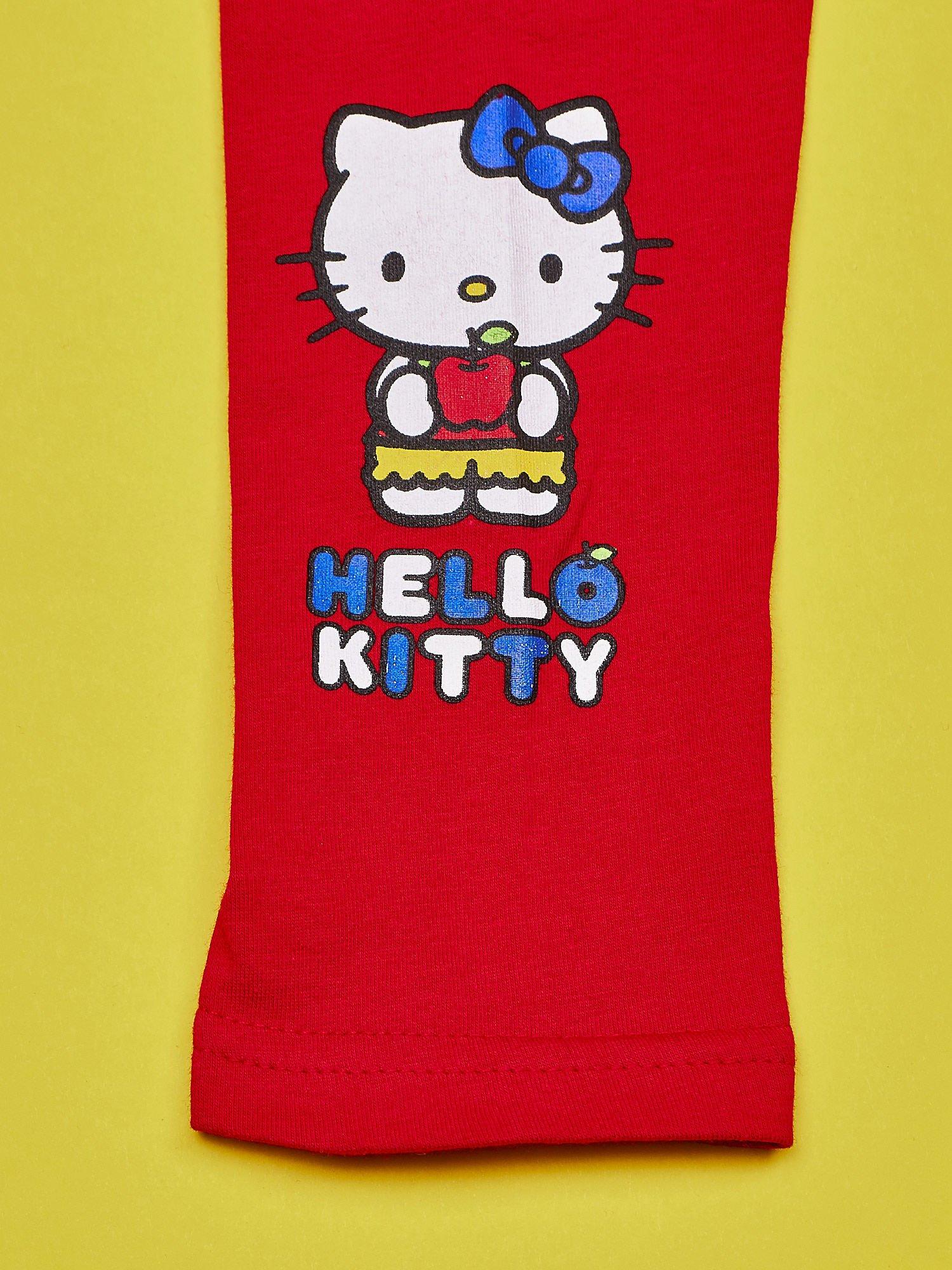 Czerwone legginsy dla dziewczynki HELLO KITTY                                  zdj.                                  3
