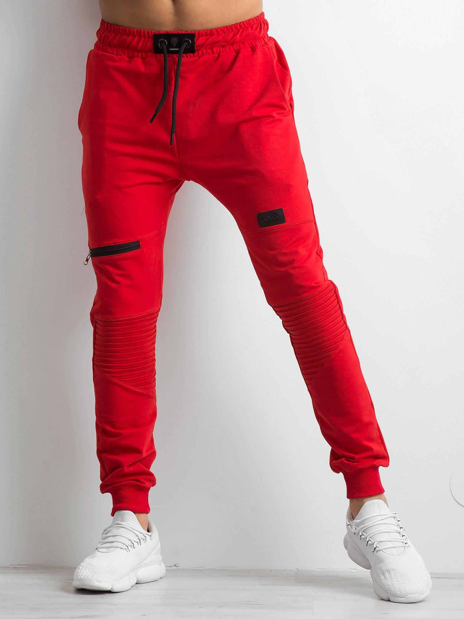 93ad889b0 Czerwone męskie spodnie dresowe - Mężczyźni Spodnie dresowe męskie ...