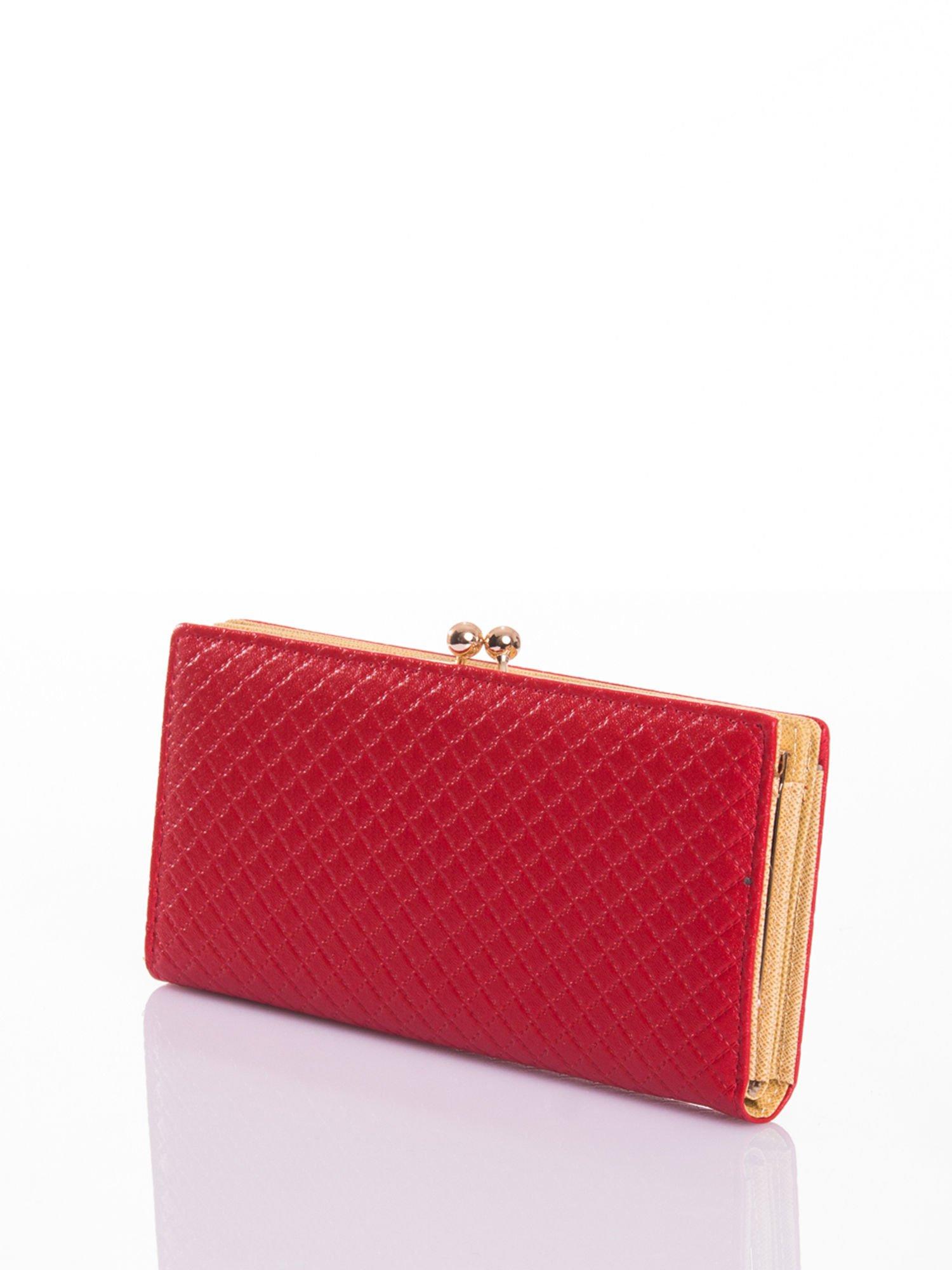 Czerwony elegancki portfel na bigiel                                  zdj.                                  2