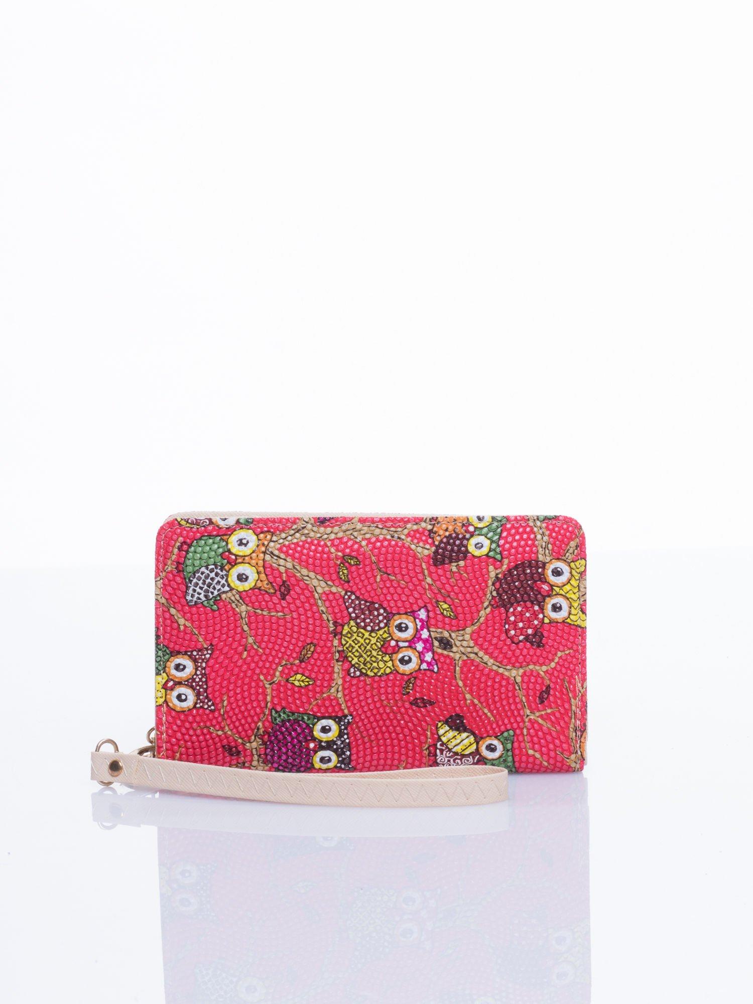 Czerwony mini portfel w sówki                                  zdj.                                  1