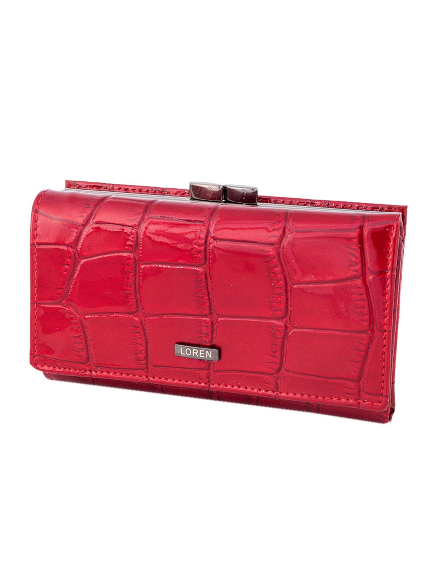 36a5a00d20429 Czerwony portfel damski skórzany na bigiel - Akcesoria portfele ...