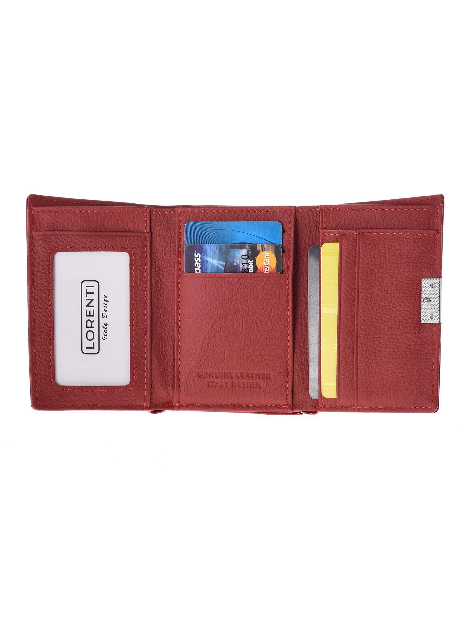 2729b79b9659f 2 · Czerwony skórzany portfel damski ze wzorem skóry krokodyla ...
