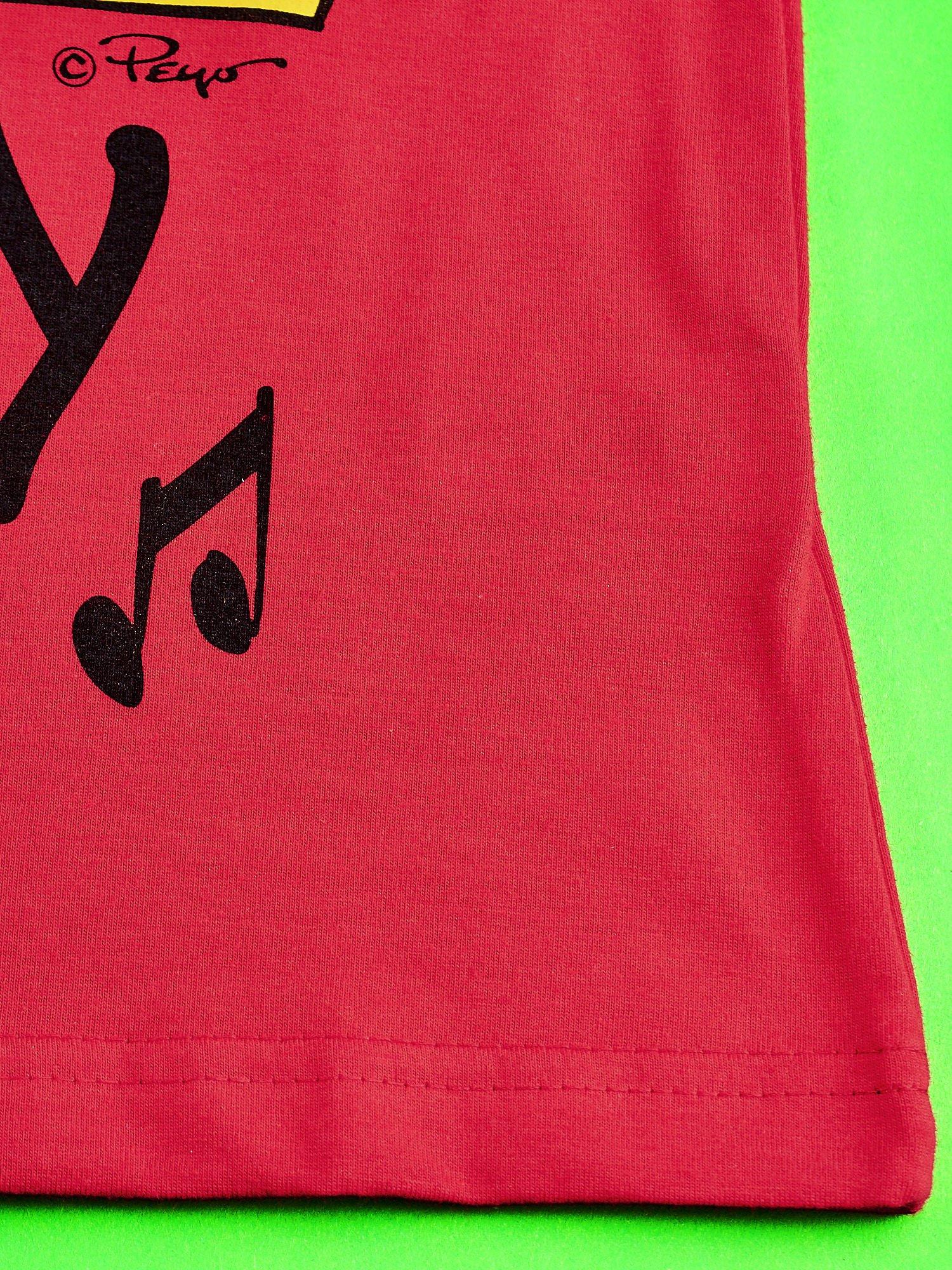 Czerwony t-shirt chłopięcy SMERFY                                  zdj.                                  5