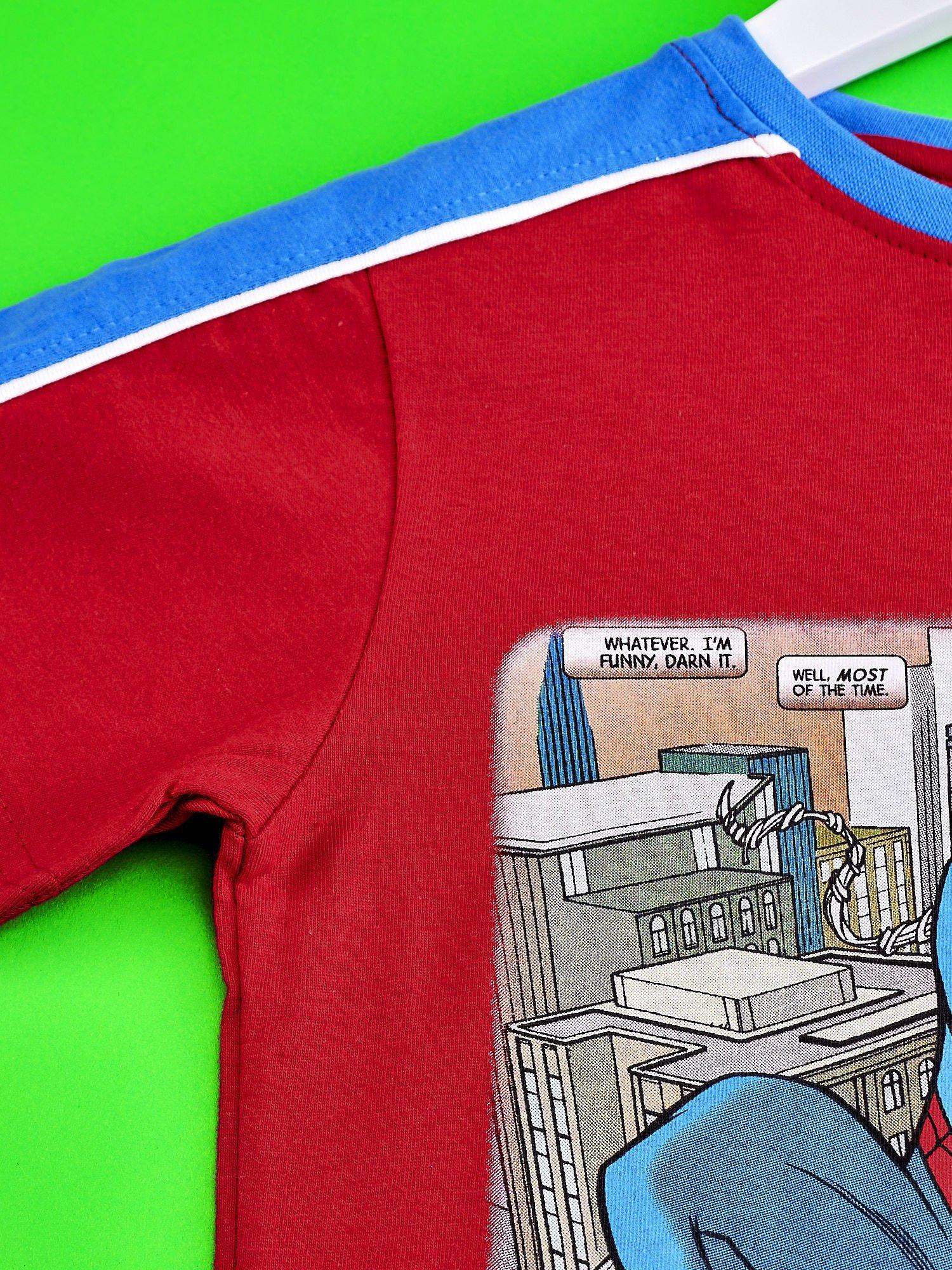 Czerwony t-shirt chłopięcy SPIDERMAN                                  zdj.                                  3