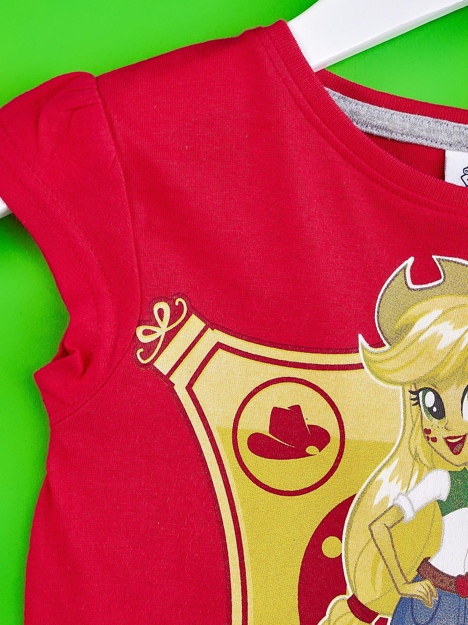 Czerwony t-shirt dla dziewczynki EQUESTRIA GIRLS                                  zdj.                                  3